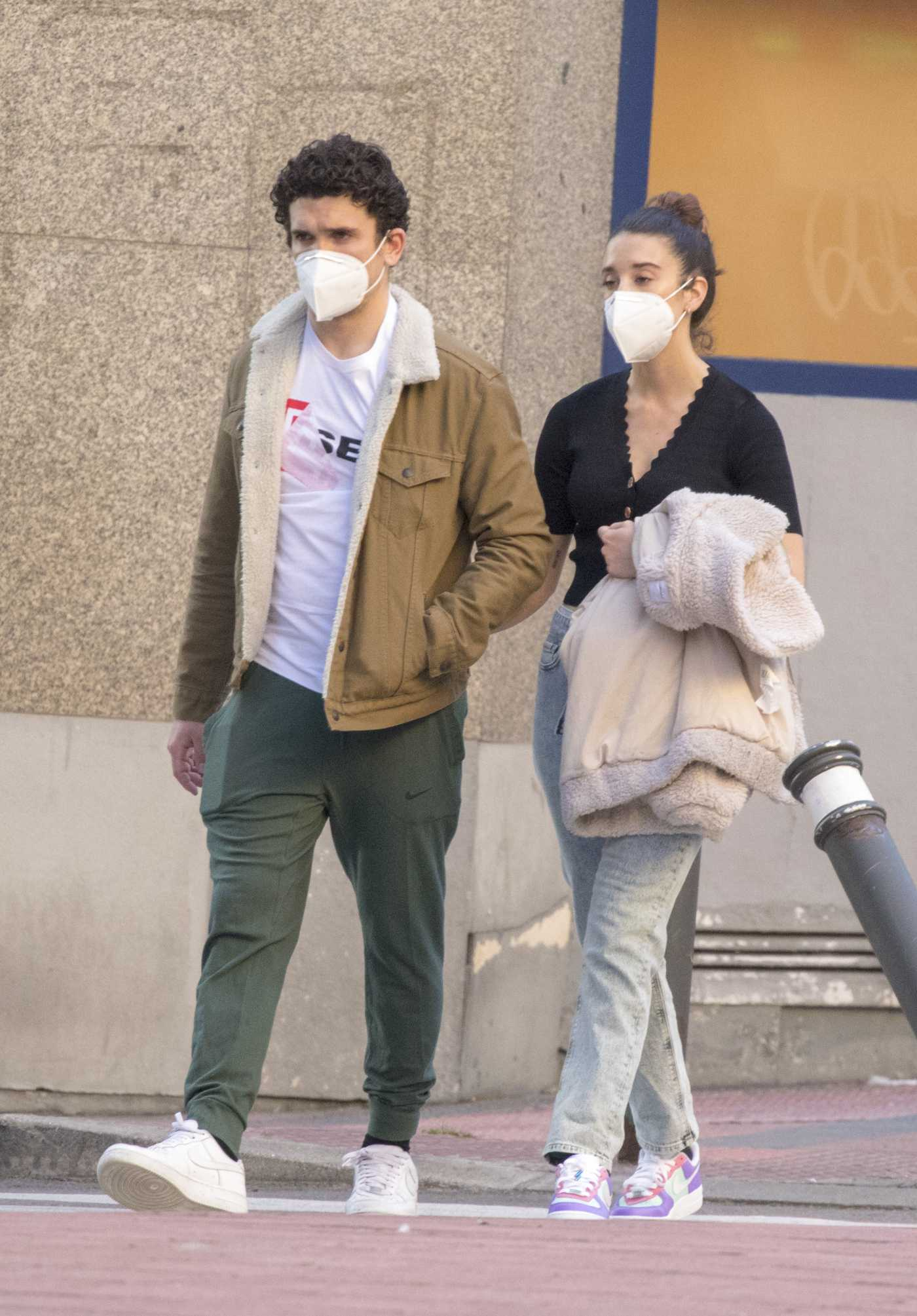 Maria Pedraza Was Seen Out with Jaime Lorente in Madrid 05/14/2020