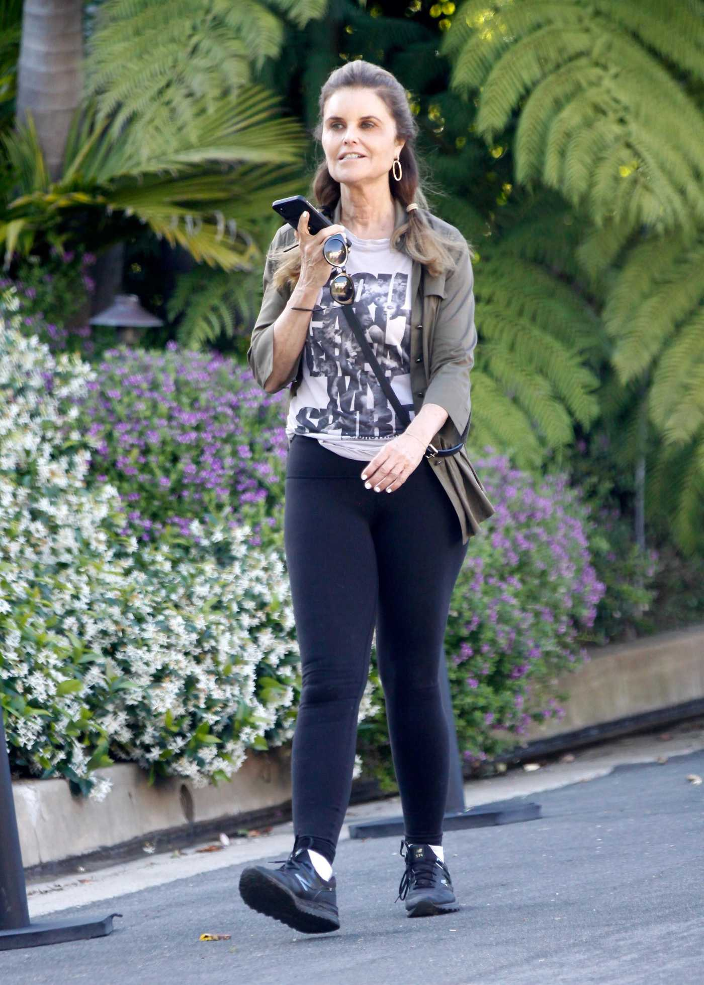 Maria Shriver in a Black Sneakers Was Seen Out in Brentwood 05/22/2020
