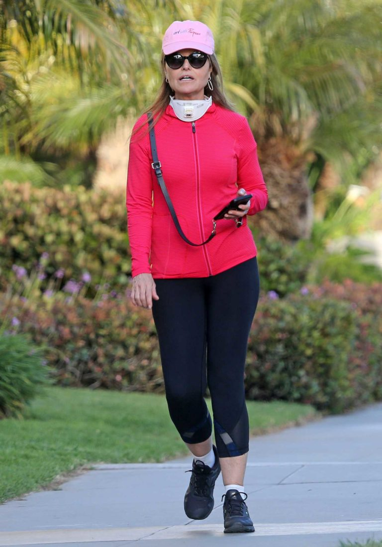 Maria Shriver in a Pink Hat