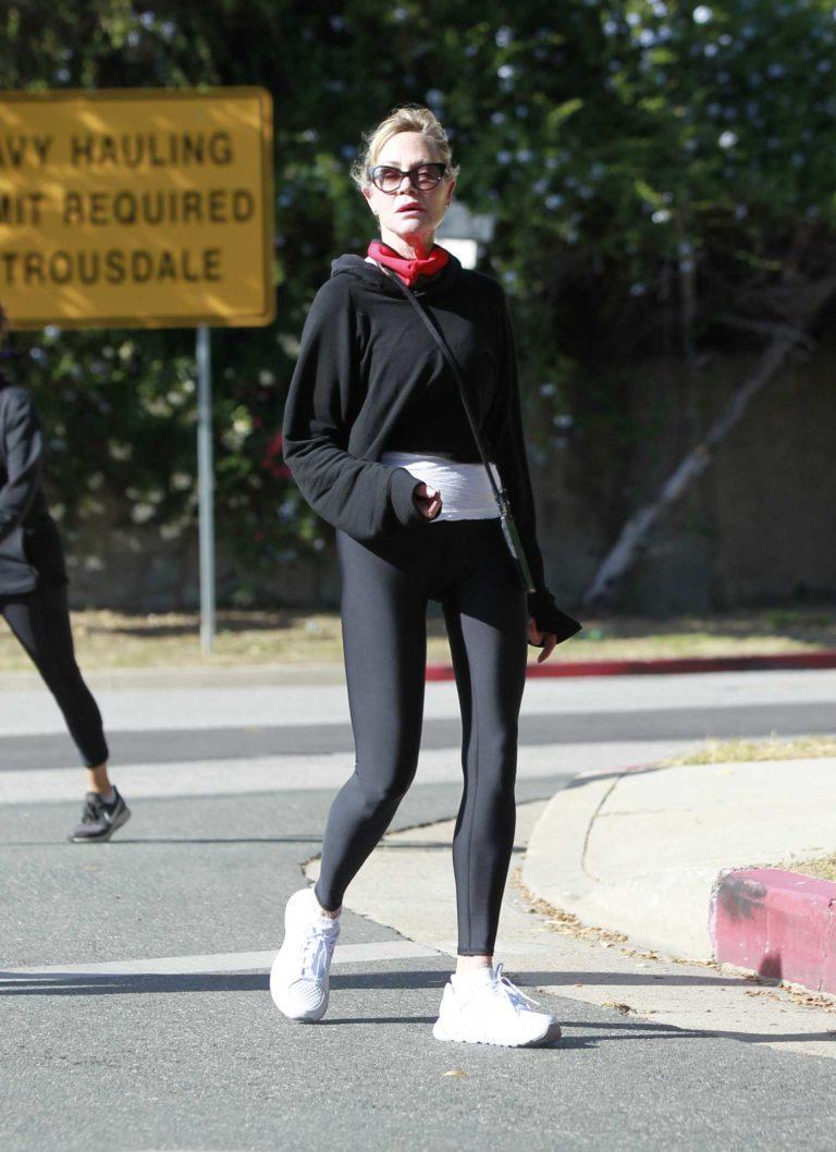 Melanie Griffith in a Black Leggings