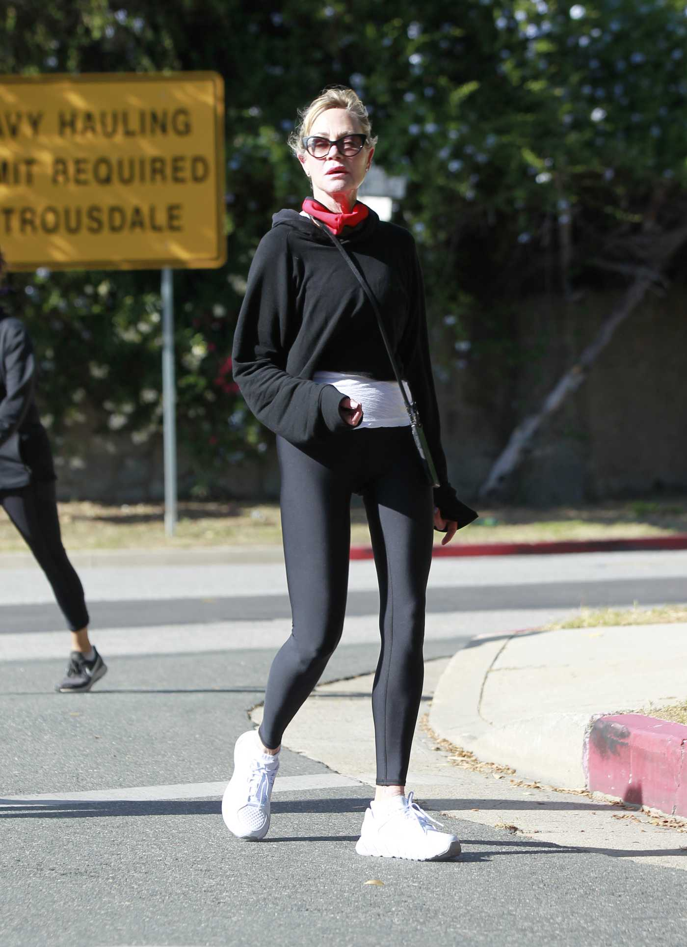Melanie Griffith in a Black Leggings Was Seen Out in Beverly Hills 05/21/2020