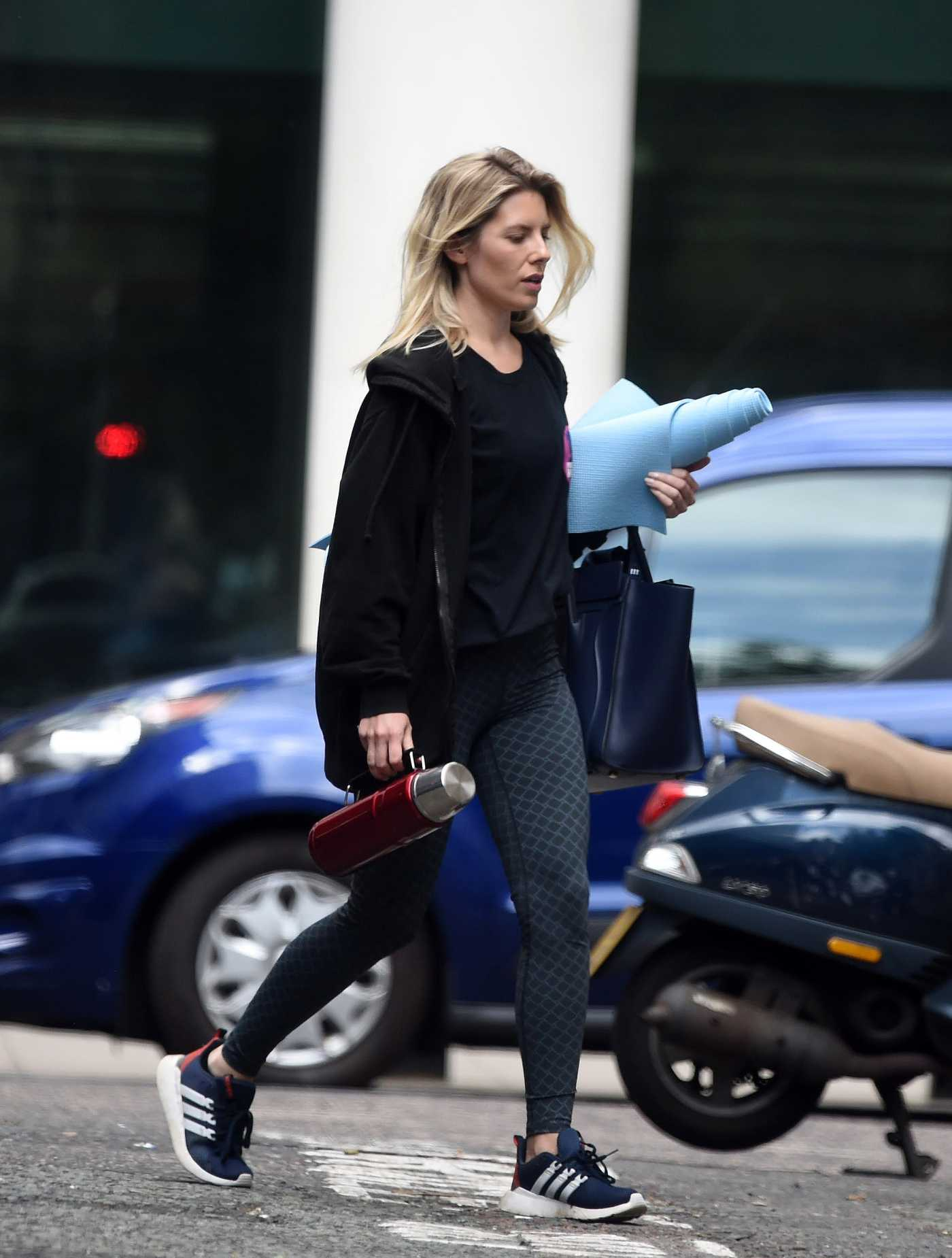 Mollie King in a Black Track Jacket Was Seen Out in London 05/24/2020