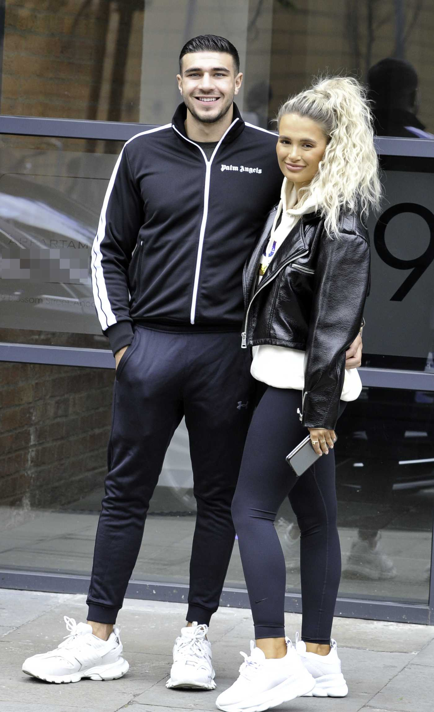 Molly-Mae Hague in a Black Leggings Was Seen Out with Tommy Fury in Manchester 05/25/2020