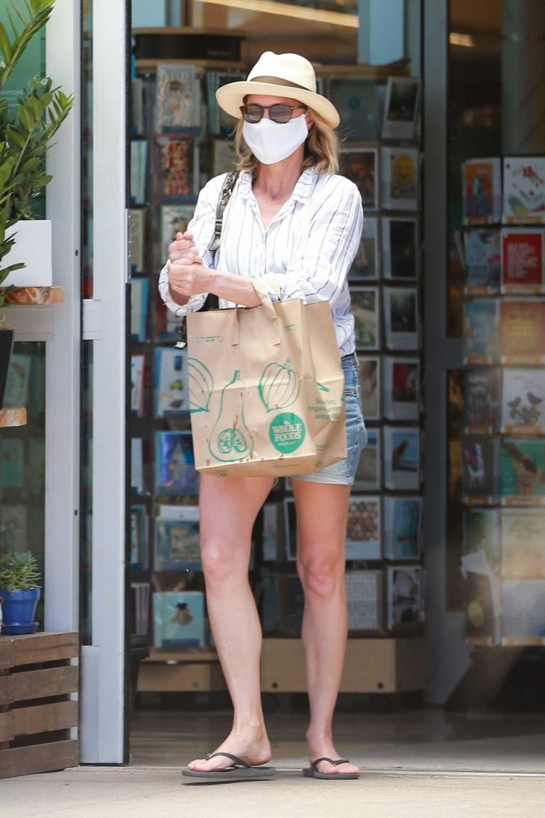 Robin Wright in a Protective Mask