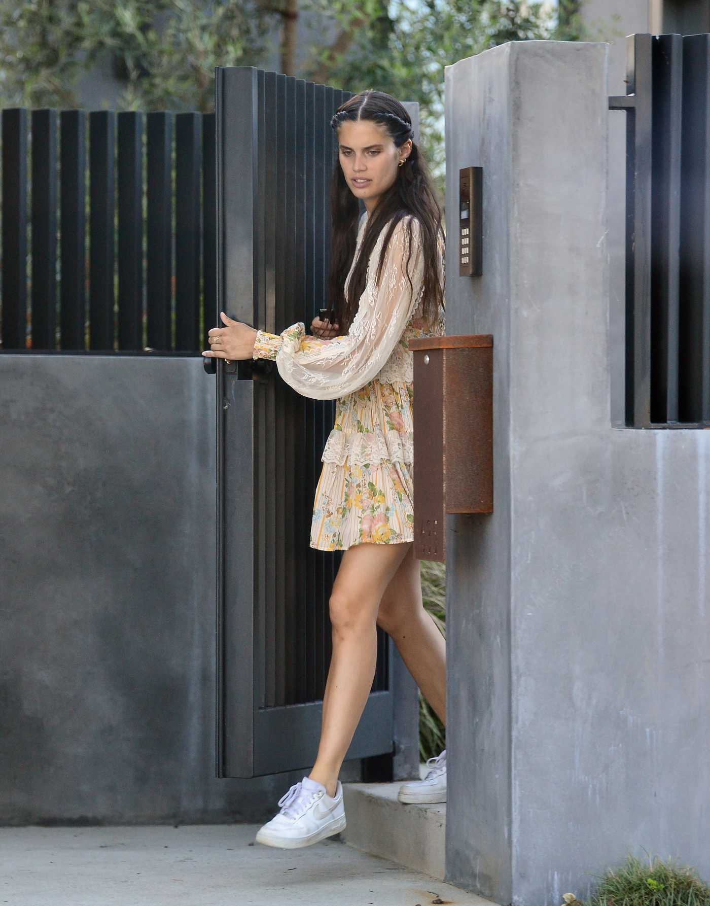 Sara Sampaio in a White Nike Sneakers Leaves a Friends House in Los Angeles 05/24/2020