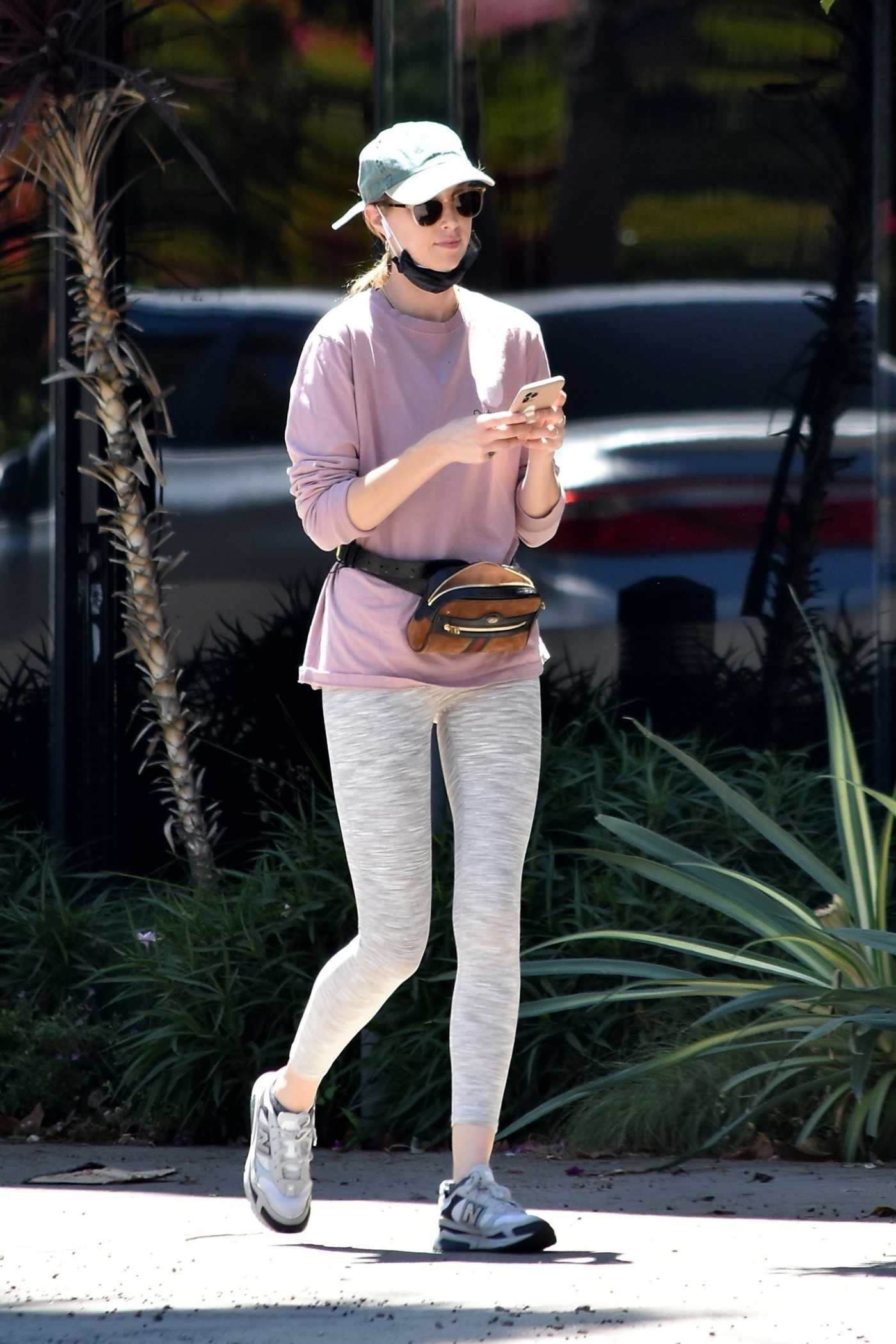 Whitney Port in a Gray Leggings Was Seen Out in Studio City 05/26/2020