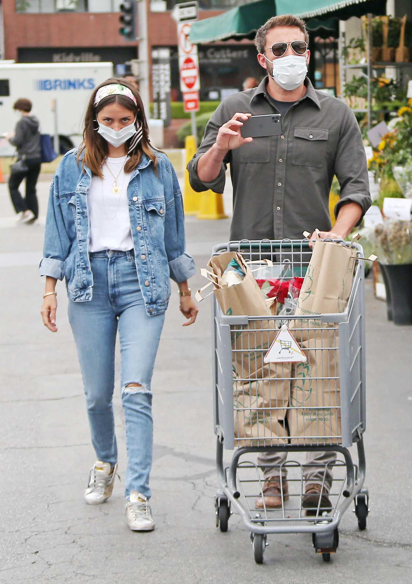 Ana de Armas in a Denim Suit Goes Shopping Out with Ben Affleck in Los Angeles 06/05/2020