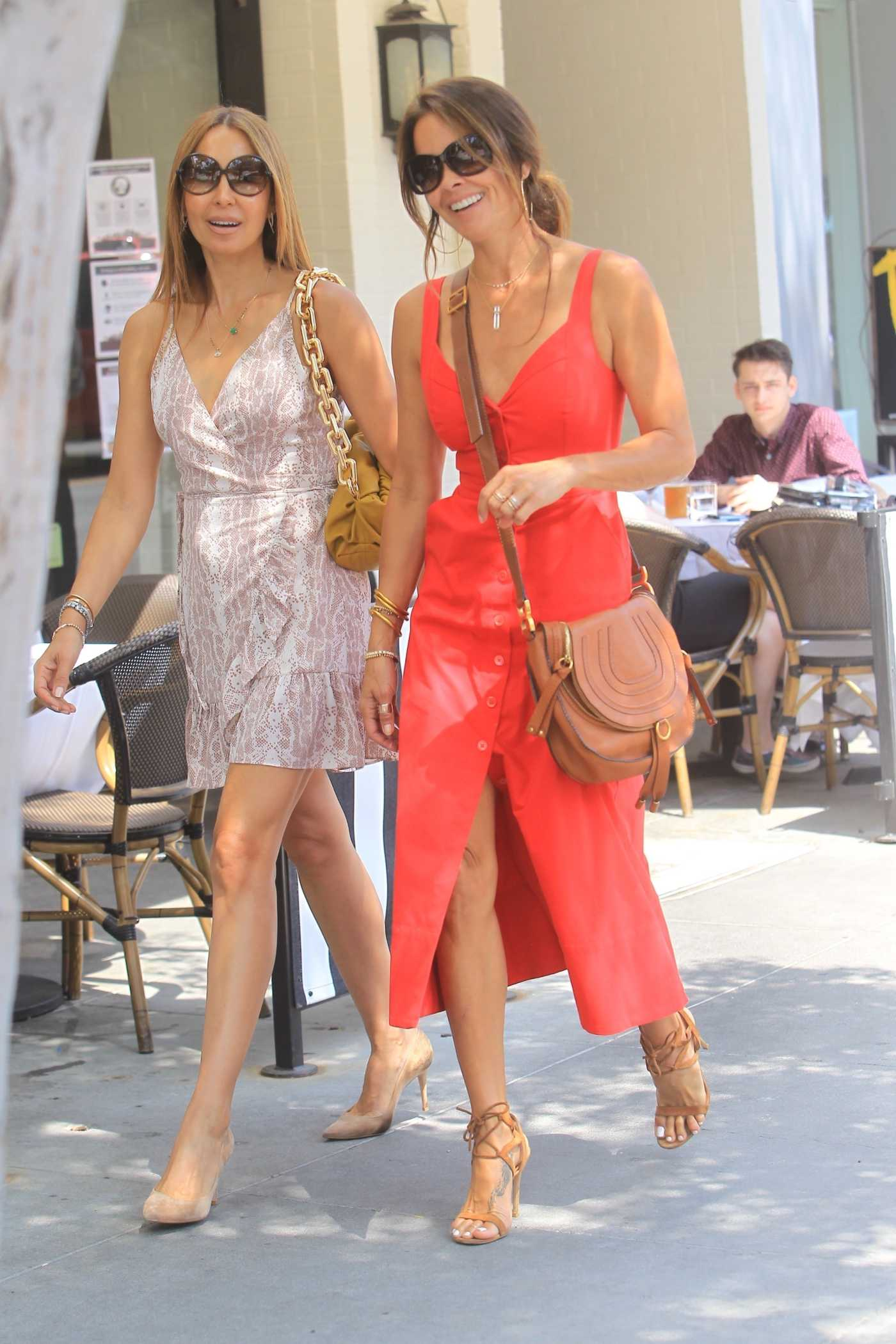 Brooke Burke in a Red Dress Was Seen Out with a Girlfriend in Beverly Hills 06/17/2020