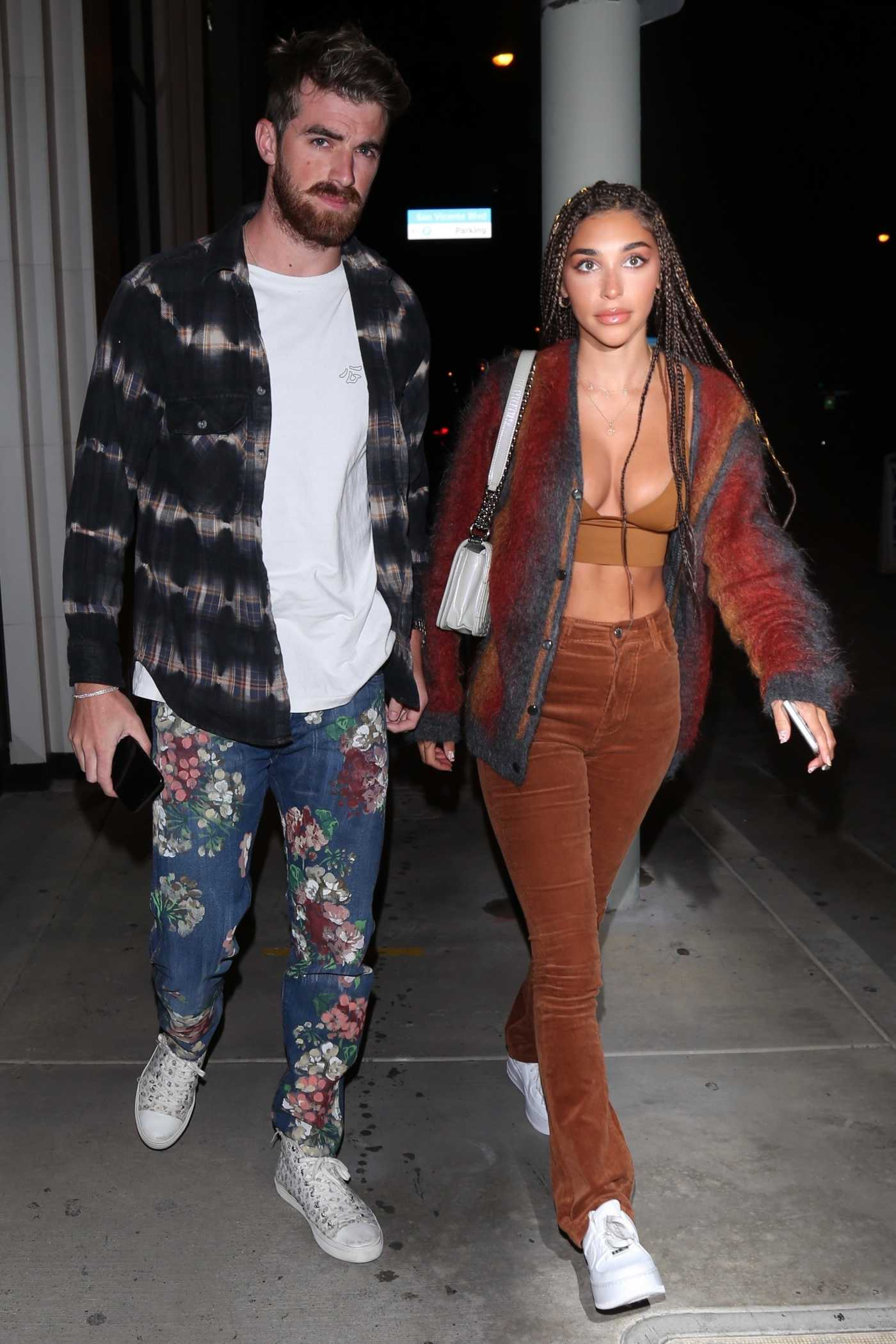 Chantel Jeffries in a Tan Bra Leaves a Catch Restaurant in West Hollywood 06/13/2020