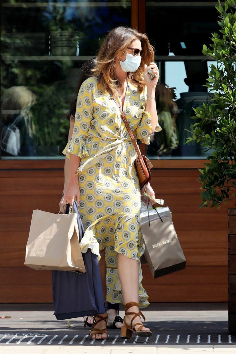 Cindy Crawford in a Yellow Dress