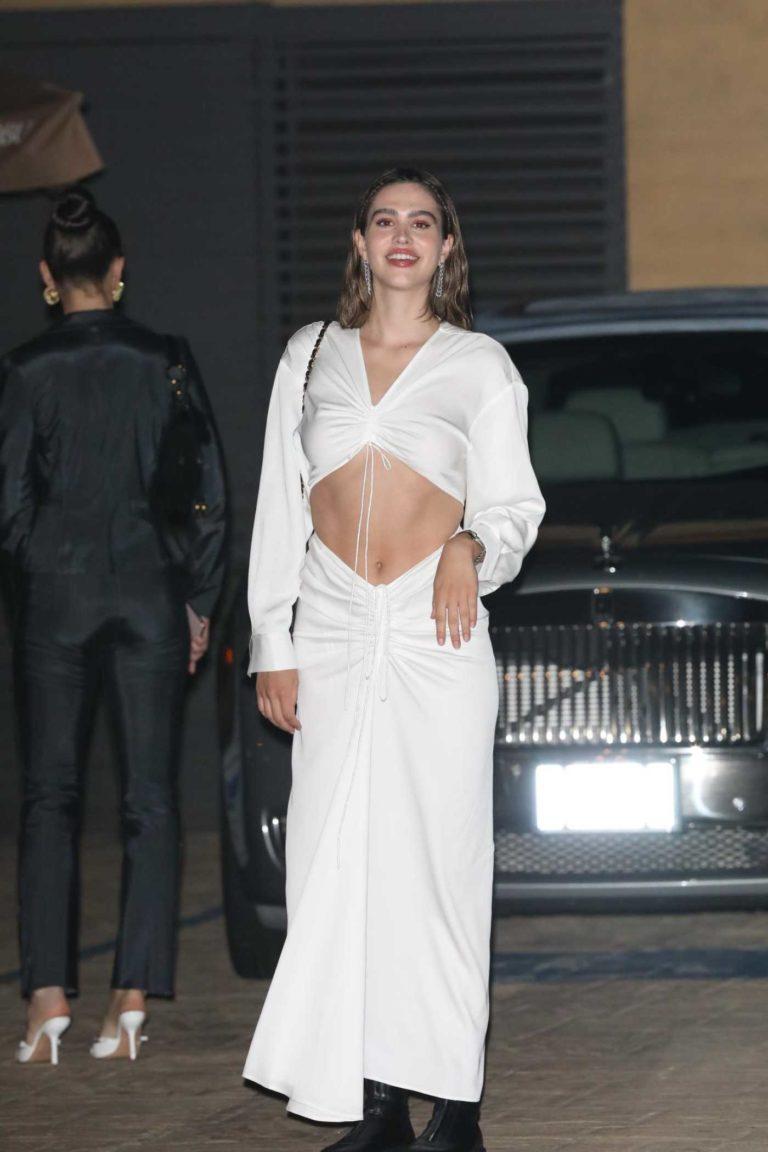 Delilah Hamlin in a White Dress