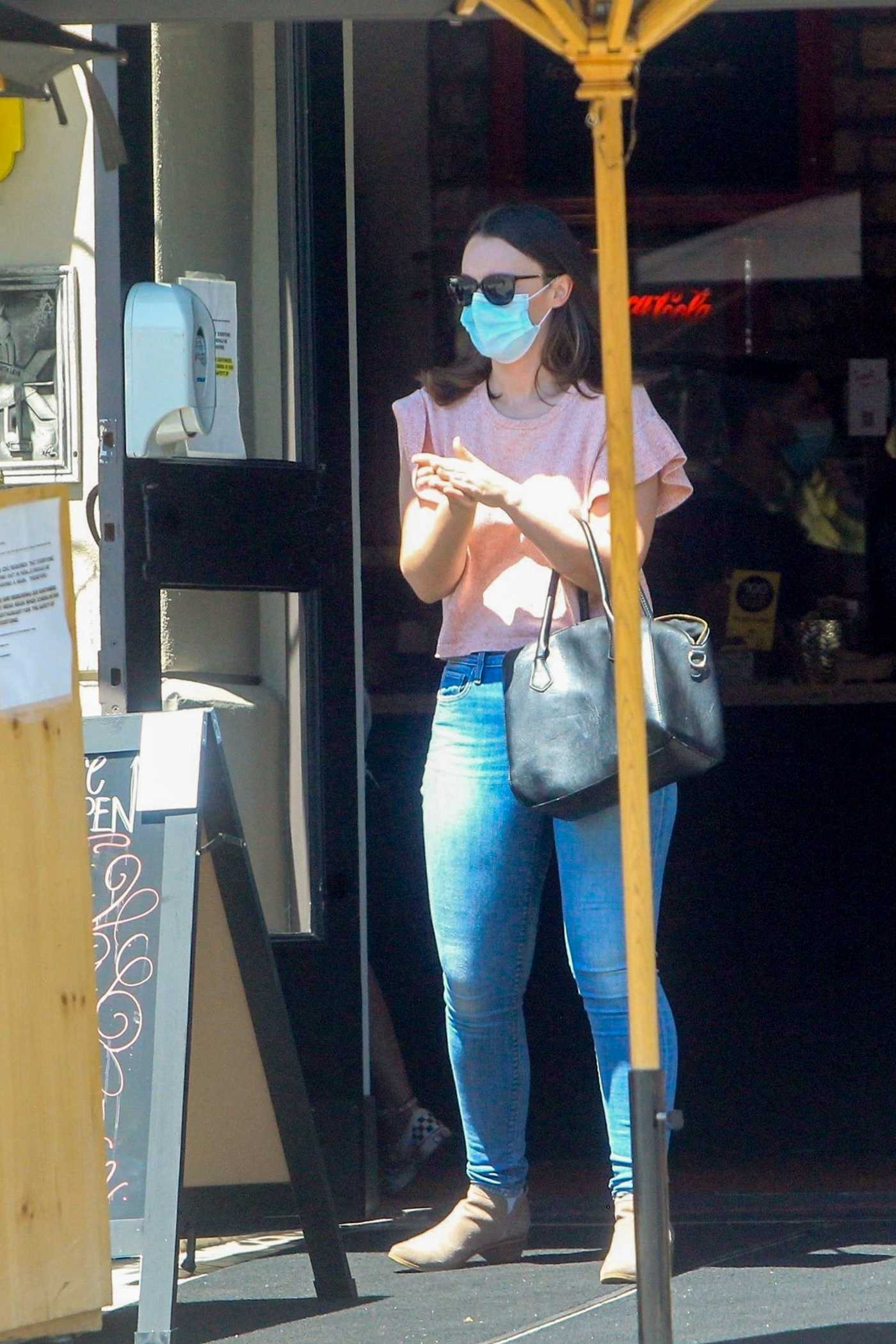 Eve Hewson in a Protective Mask Leaves Lunch at Toast Bakery Cafe in West Hollywood 06/11/2020