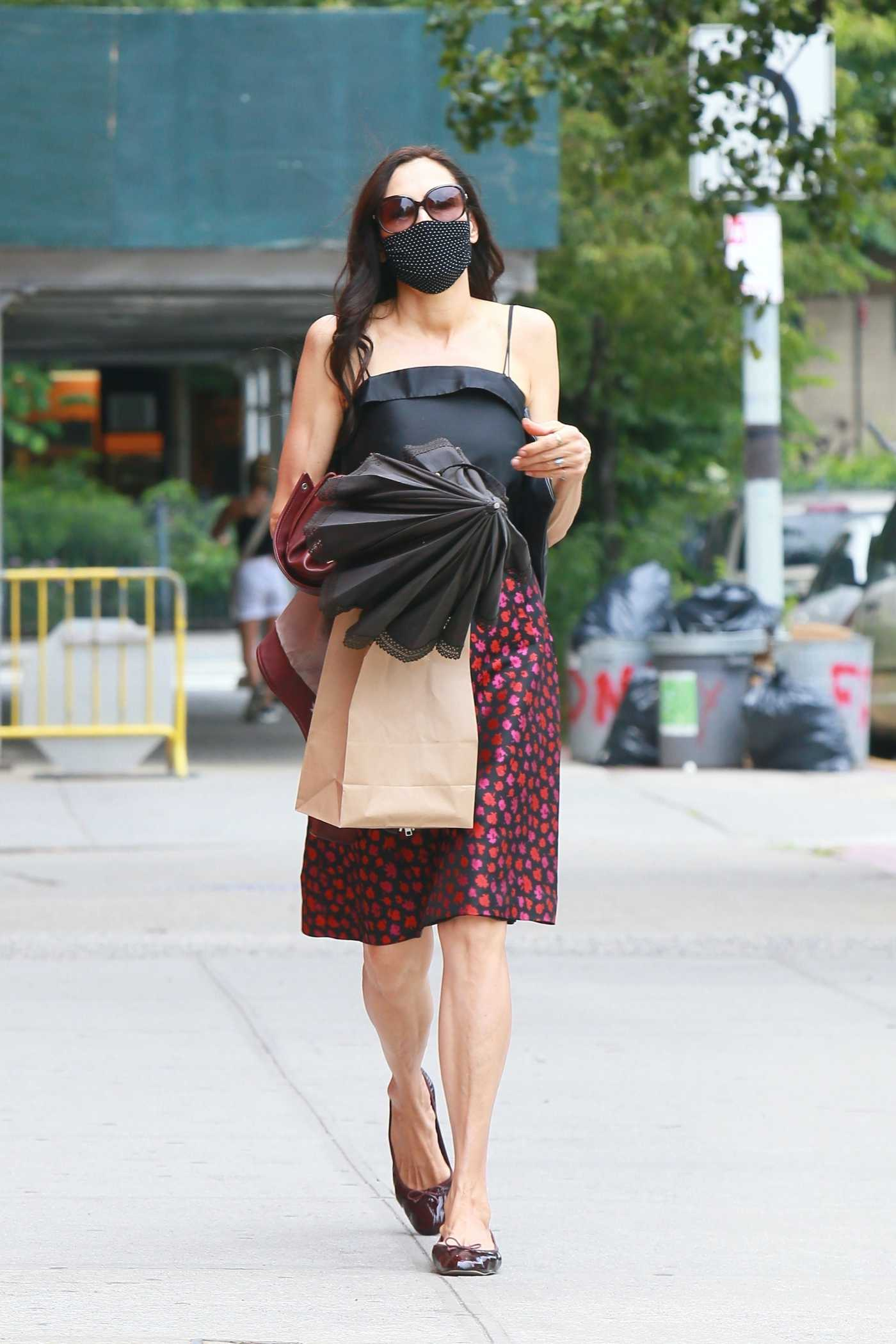 Famke Janssen in a Protective Mask Was Seen Out in New York 06/15/2020