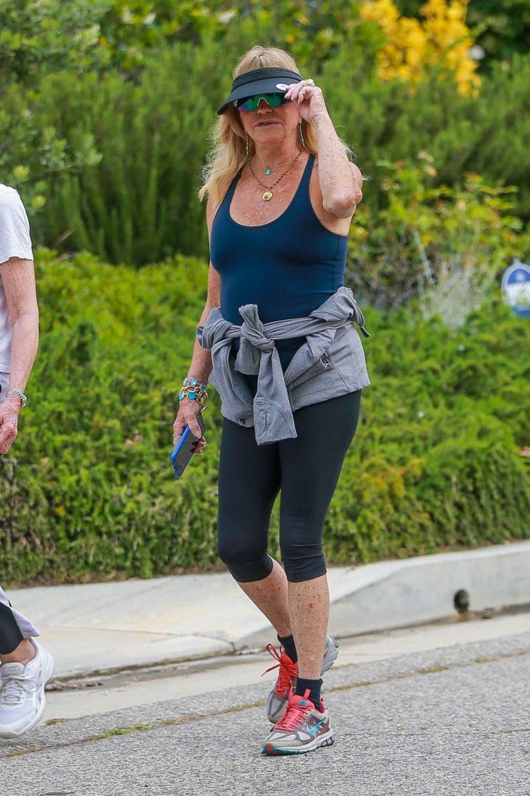 Goldie Hawn in a Blue Tank Top