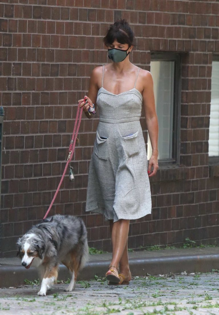 Helena Christensen in a Protective Mask