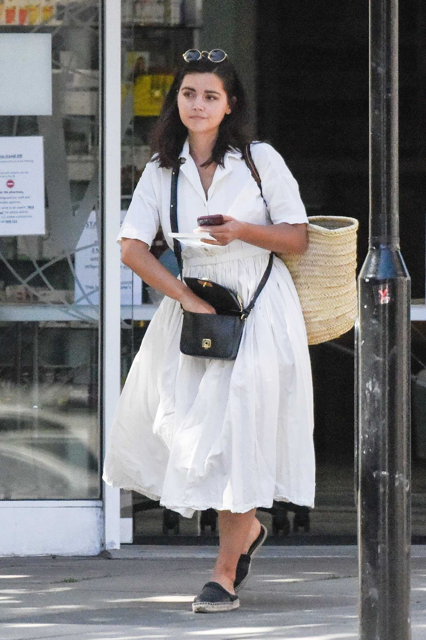 Jenna Coleman in a White Dress Was Seen Out in Central London 06/02/2020