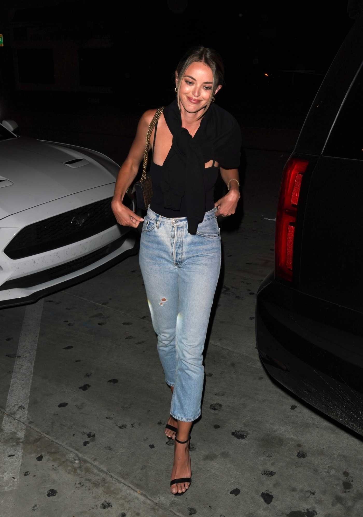 Kaitlynn Carter in a Black Top Arrives at Catch Restaurant in West Hollywood 06/13/2020