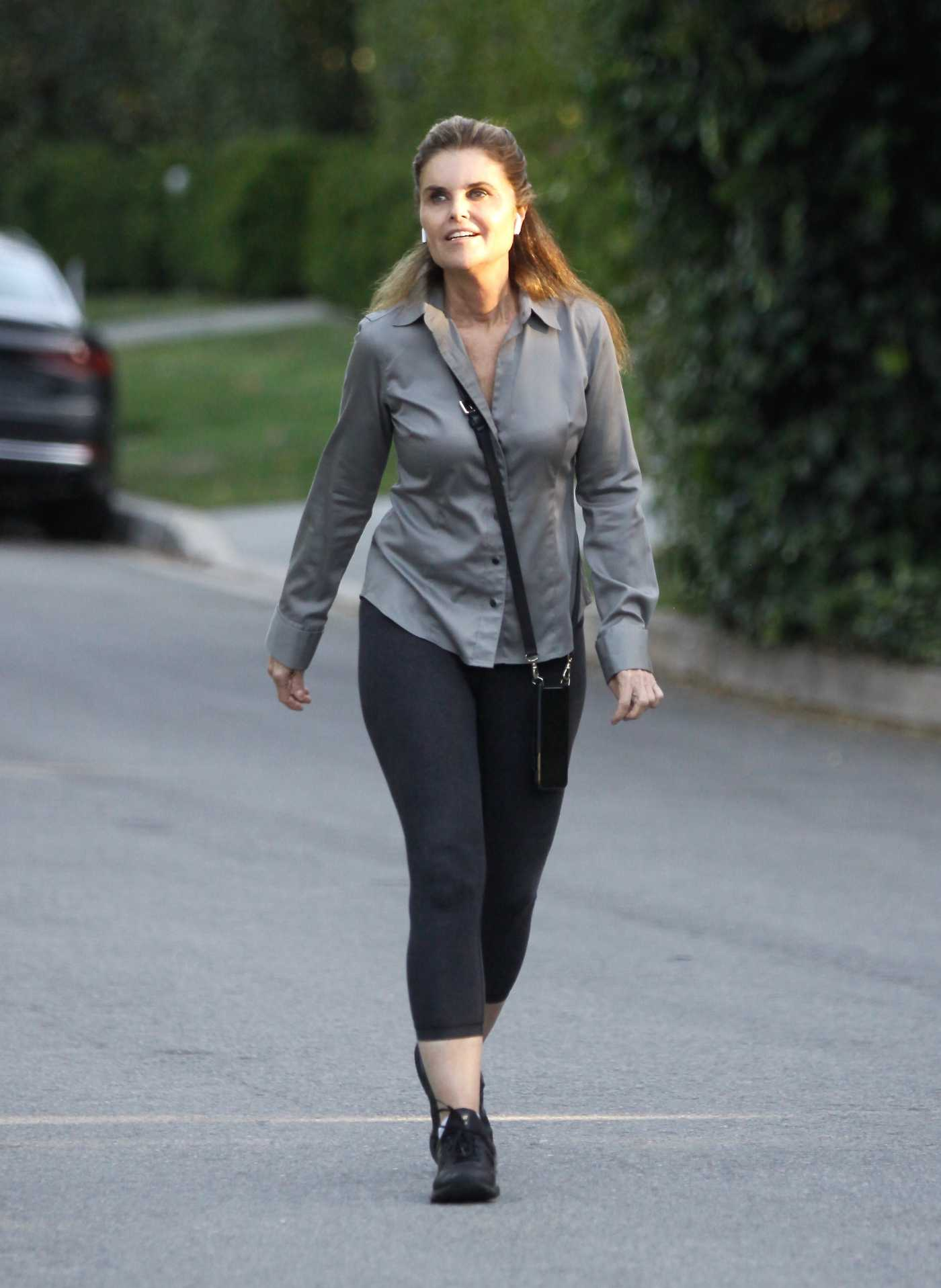 Maria Shriver in a Gray Shirt Was Seen Out in Brentwood 06/04/2020