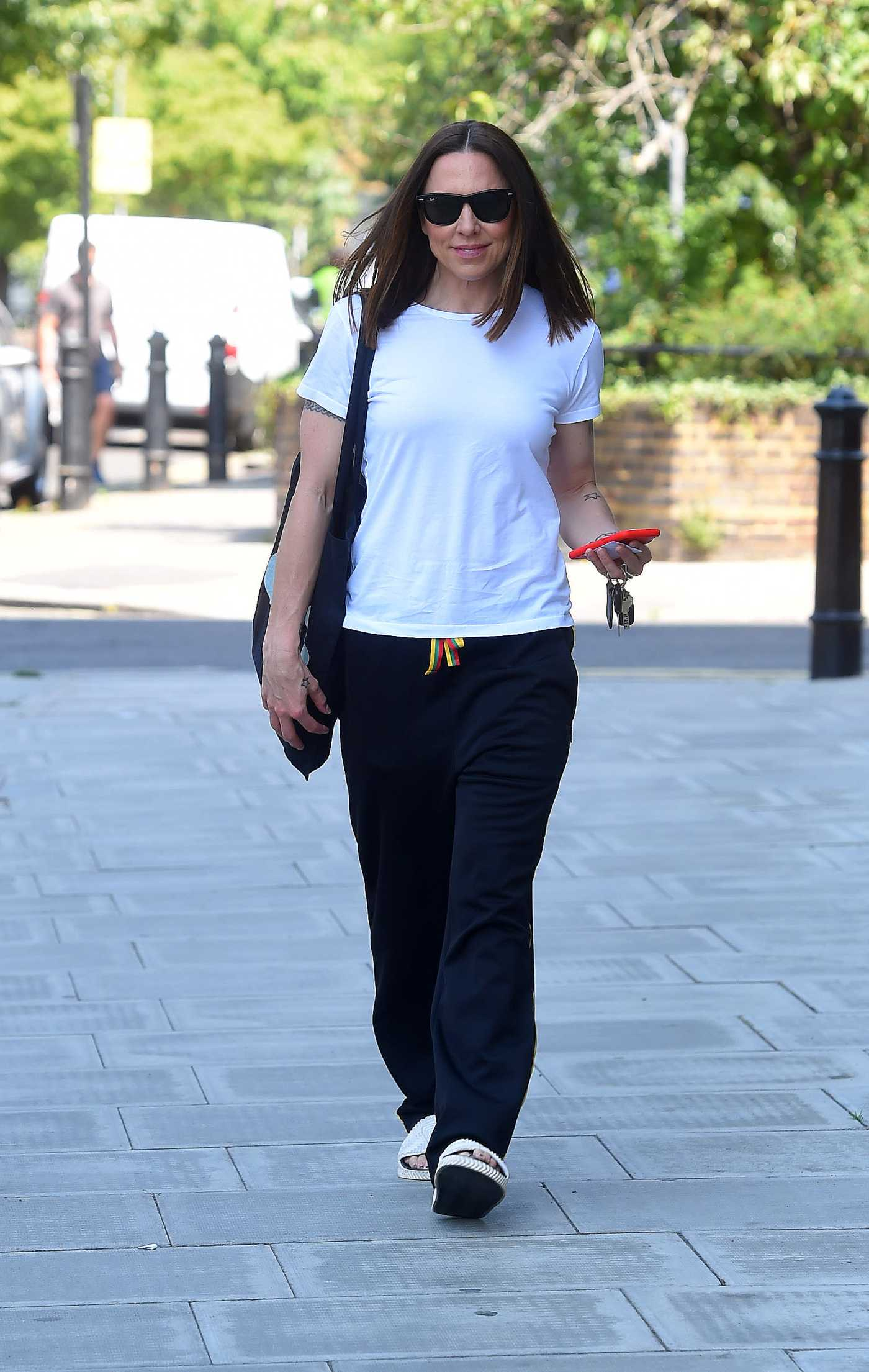 Melanie Chisholm in a White Tee Was Seen Out in London 06/23/2020