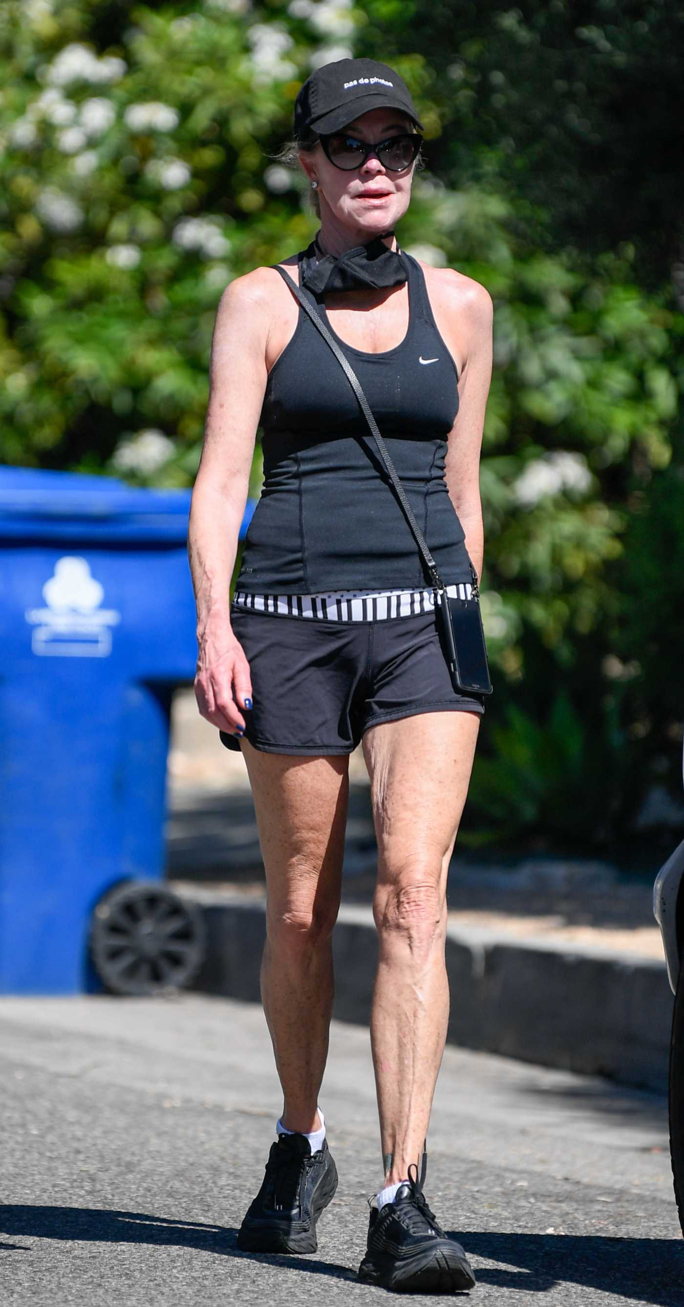 Melanie Griffith in a Black Nike Tank Top Was Seen Out in Los Angeles 06/12/2020