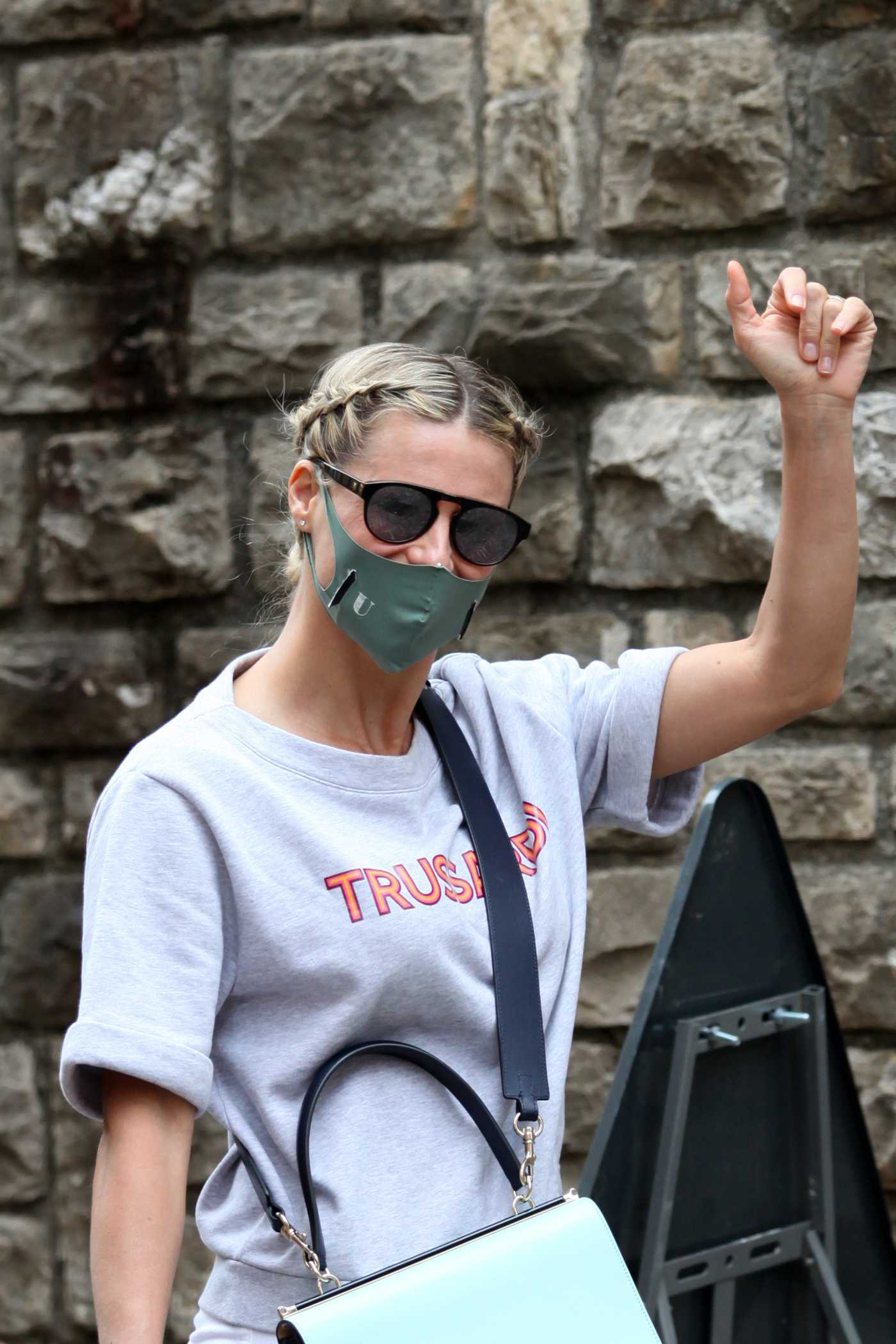 Michelle Hunziker in a Protective Mask Was Seen Out in Milan 05/31/2020