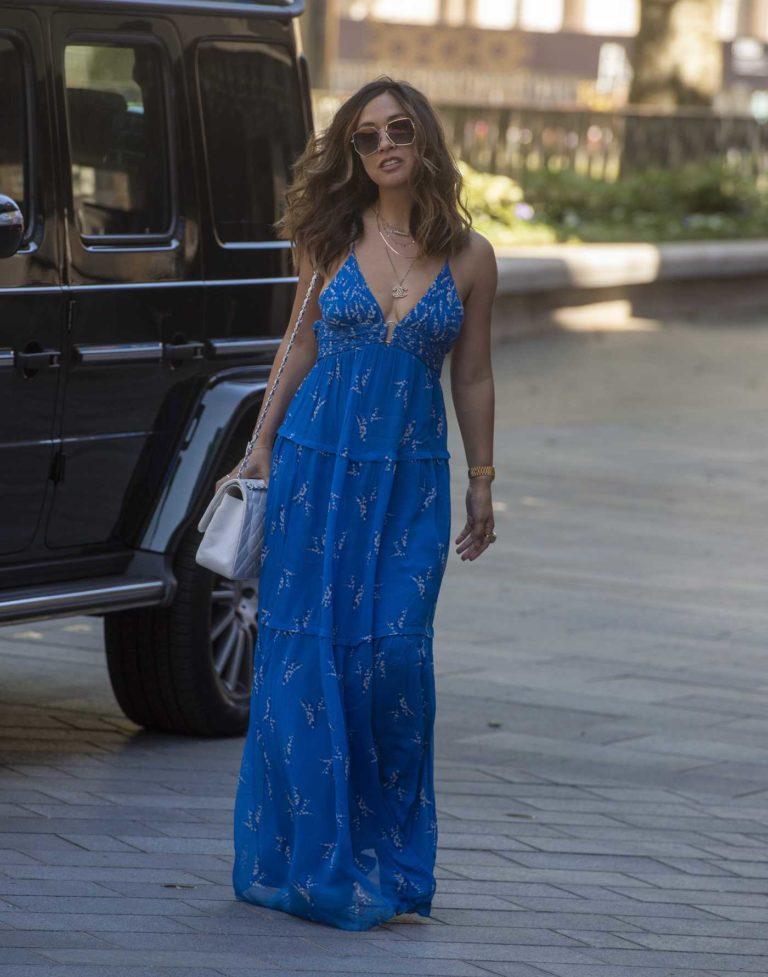 Myleene Klass in a Blue Dress