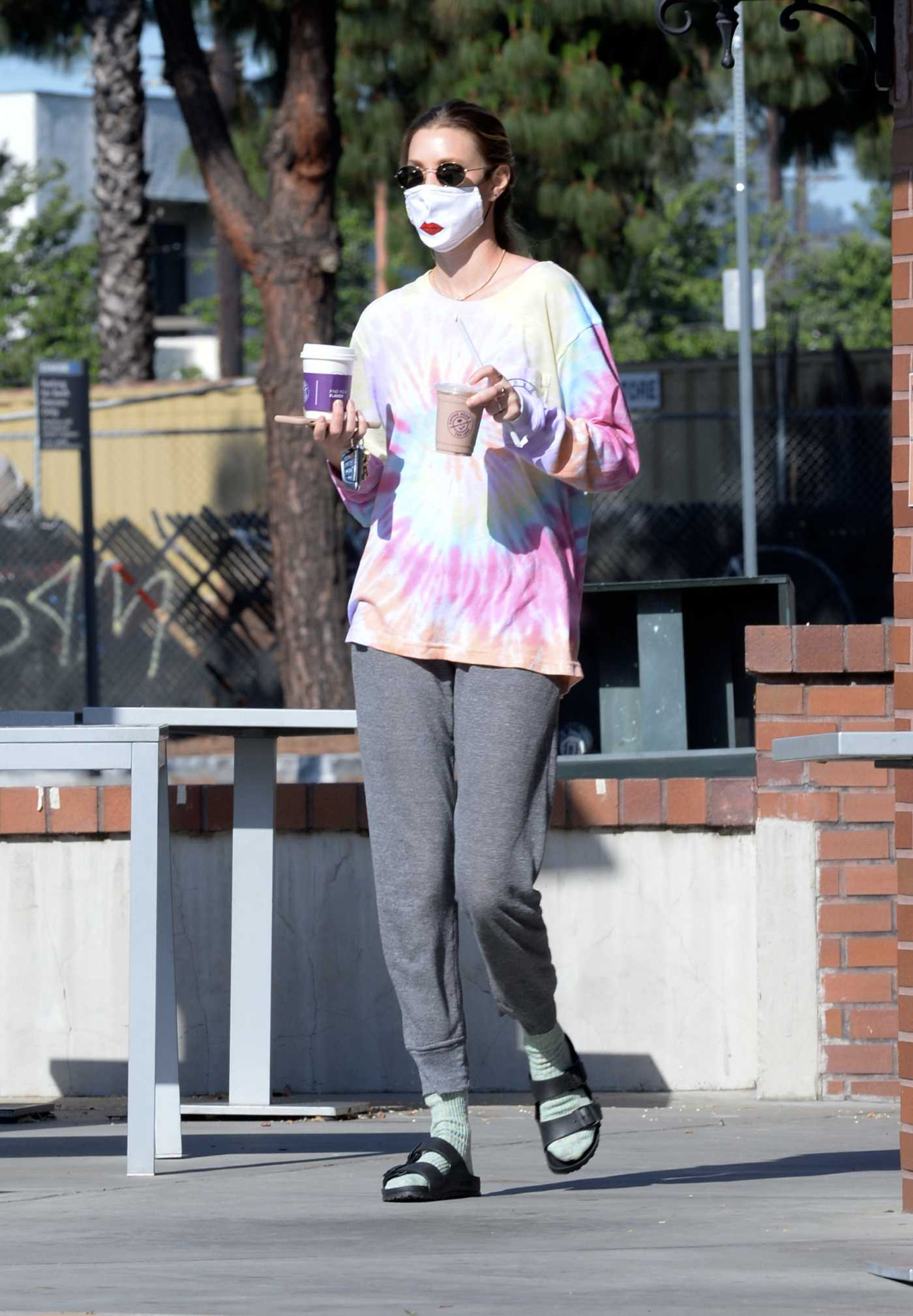 Whitney Port in a Protective Mask Does a Coffee Run at Coffee Bean in Studio City 05/31/2020