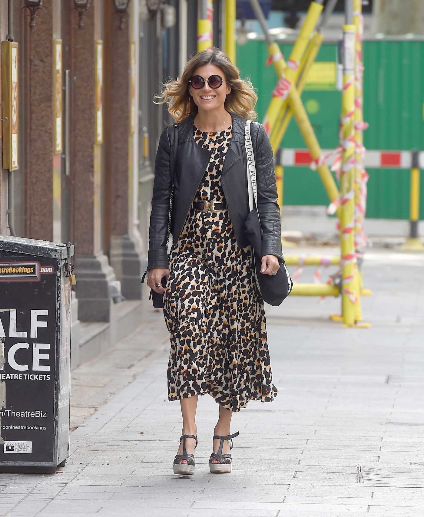 Zoe Hardman in an Animal Print Dress Arrives at the Global Radio Studios in London 06/07/2020