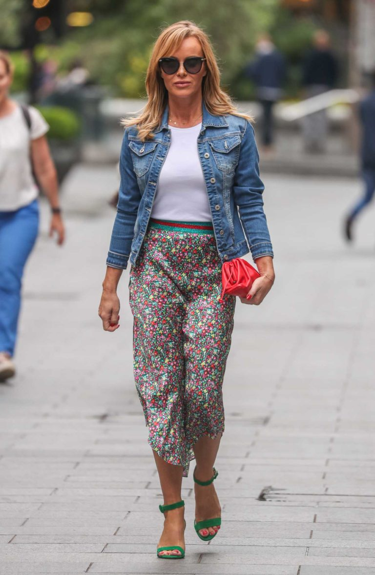 Amanda Holden in a Blue Denim Jacket