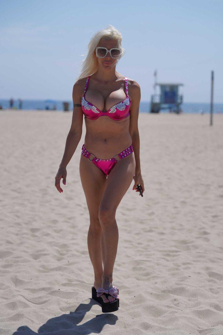 Angelique Morgan in a Pink Bikini