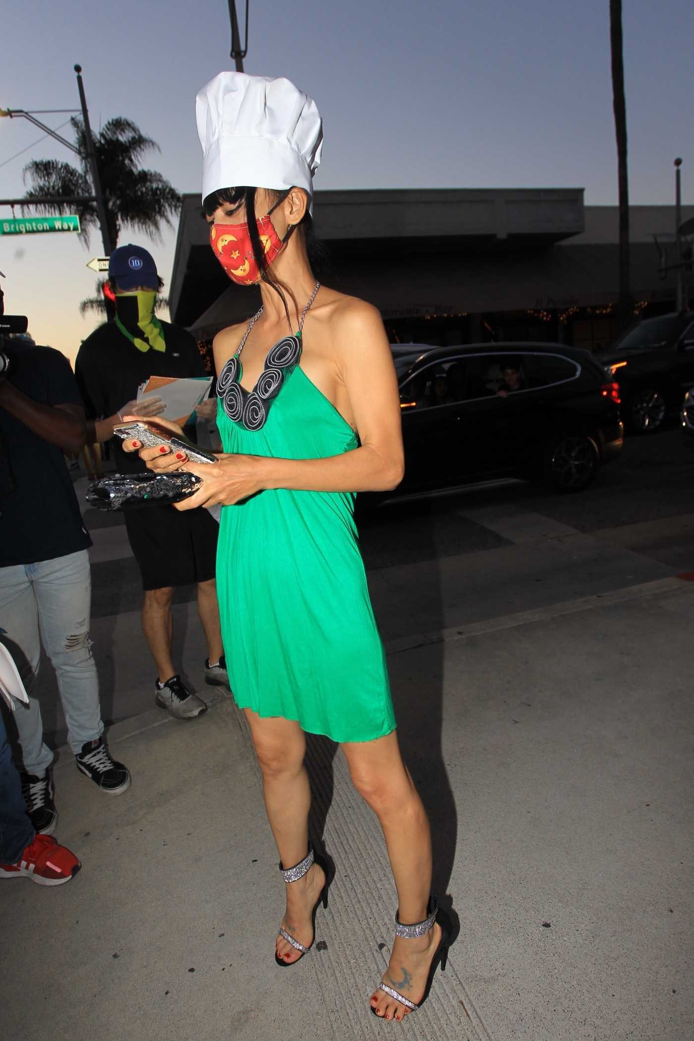 Bai Ling in a Chef Hat Poses with Marcela Iglesias in Beverly Hills 07/25/2020