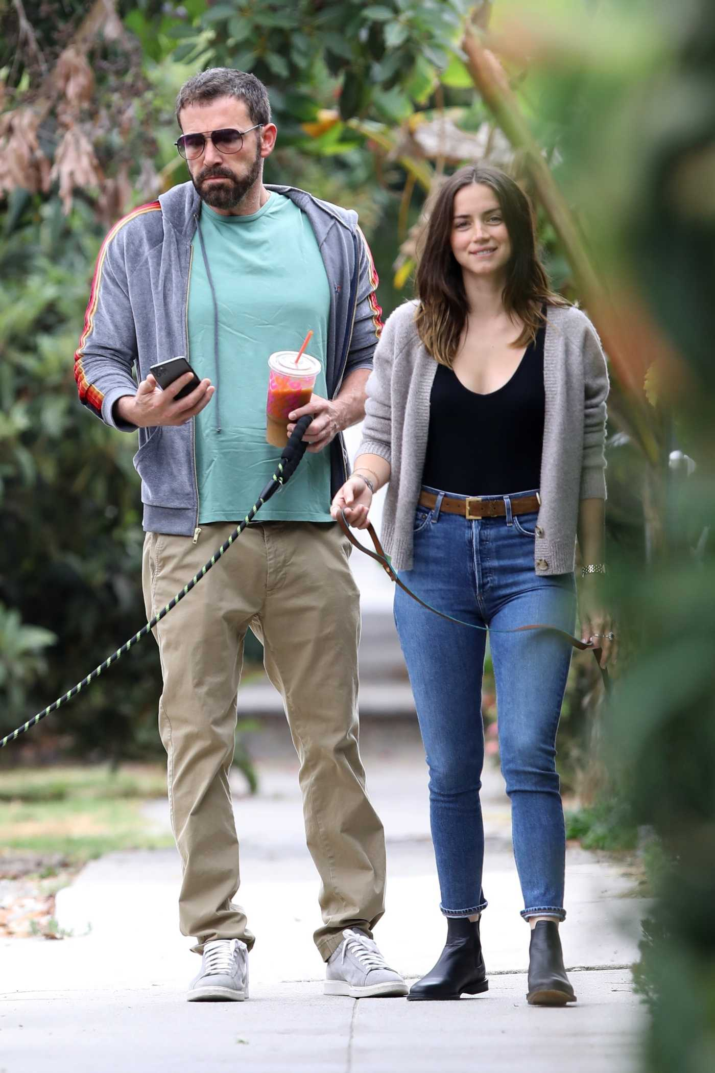 Ben Affleck in a Beige Pants Was Seen Out with Ana De Armas in Venice 07/01/2020