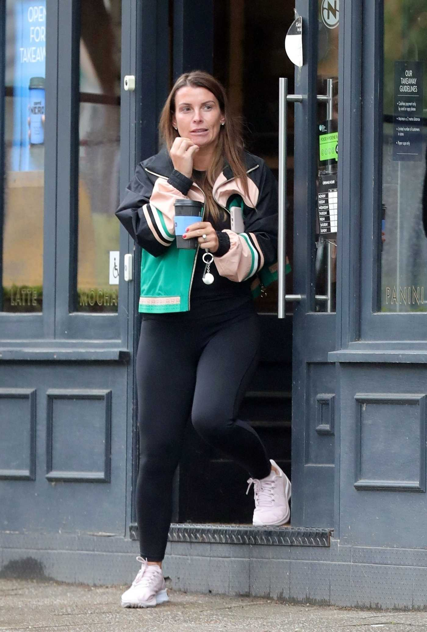 Coleen Rooney in a Black Leggings Was Seen Out in Cheshire 07/02/2020