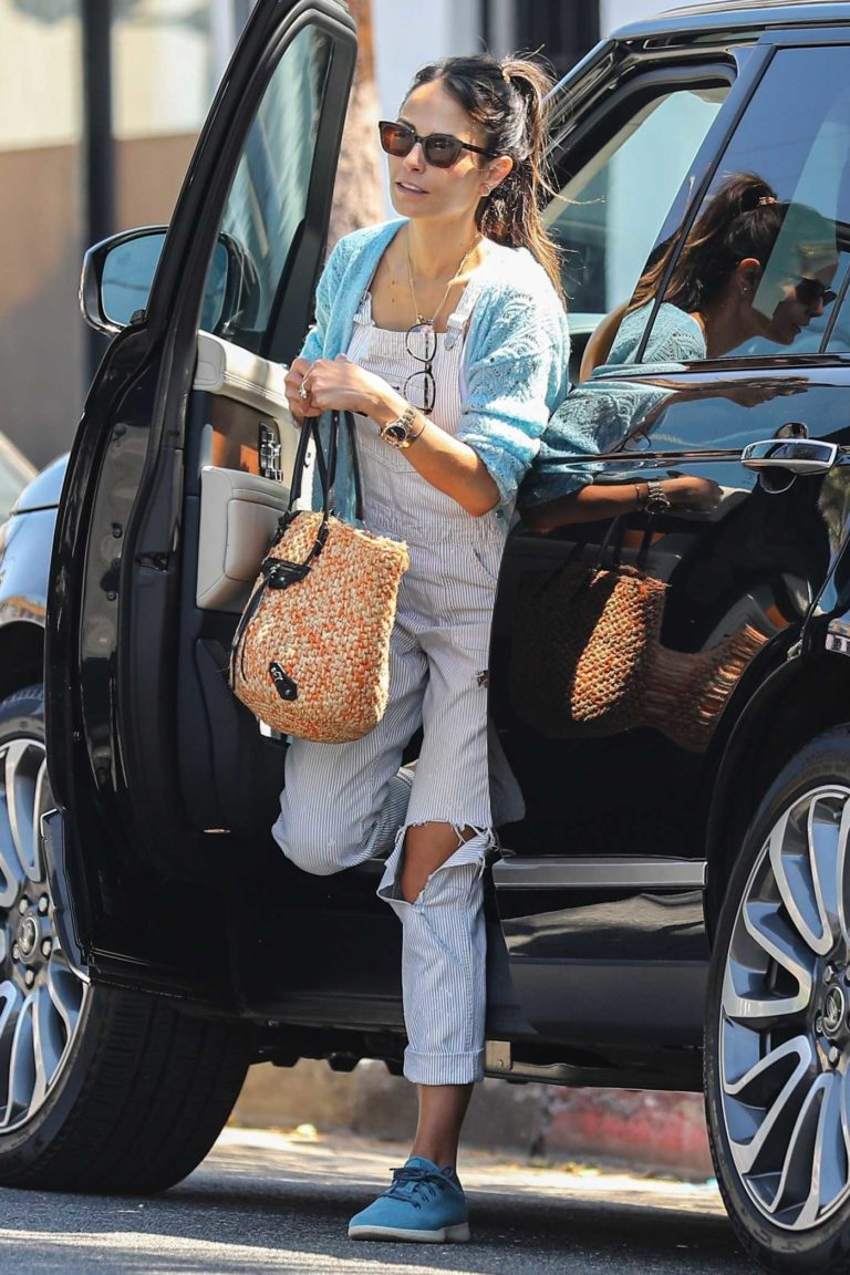 Jordana Brewster in a Ripped Jumpsuit