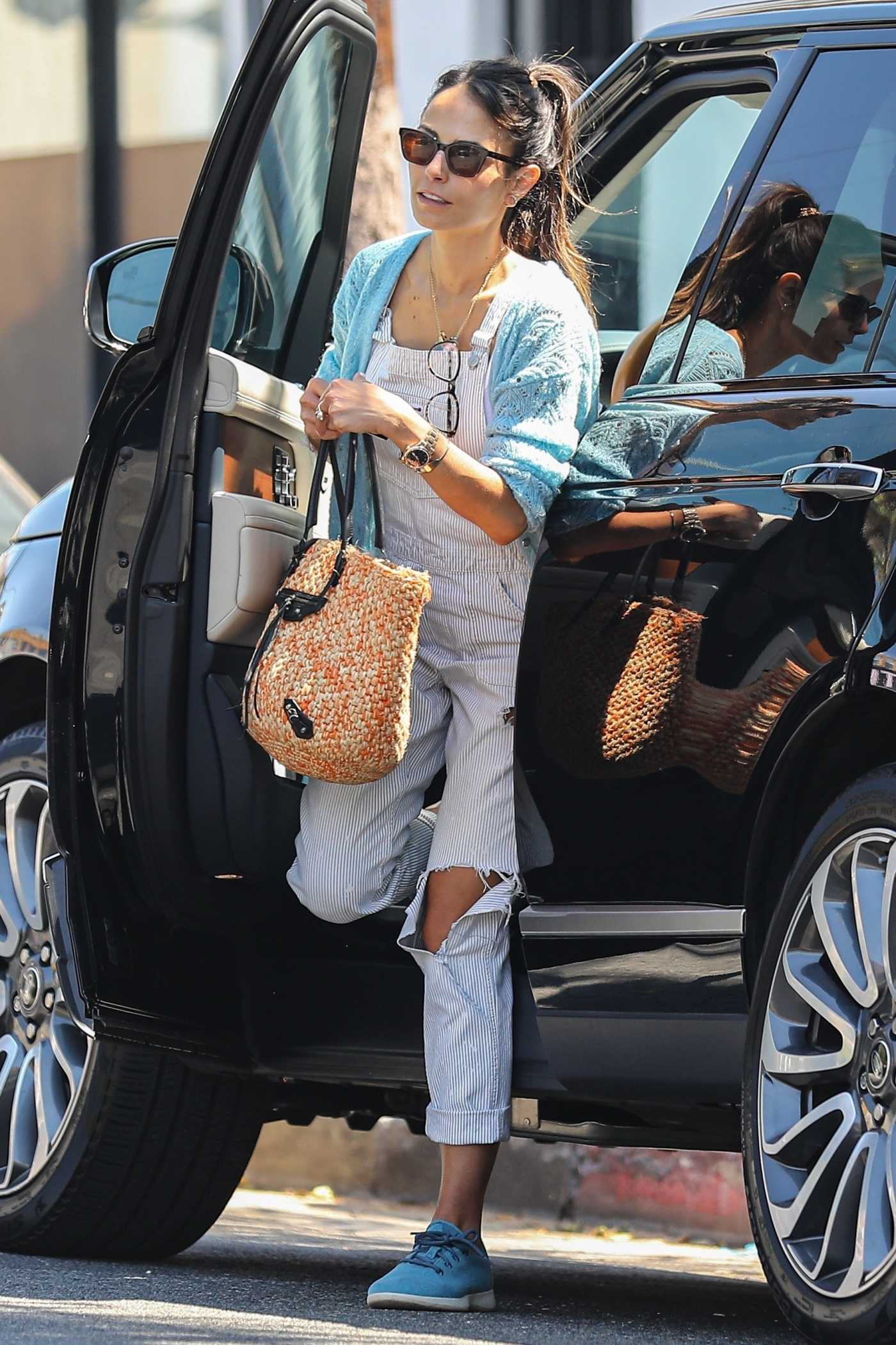 Jordana Brewster in a Ripped Jumpsuit Was Seen Out in Brentwood 07/29/2020