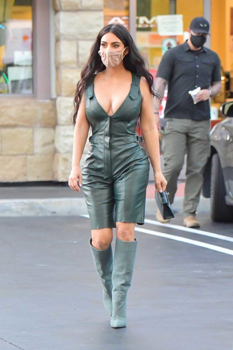 Kim Kardashian in a Protective Mask