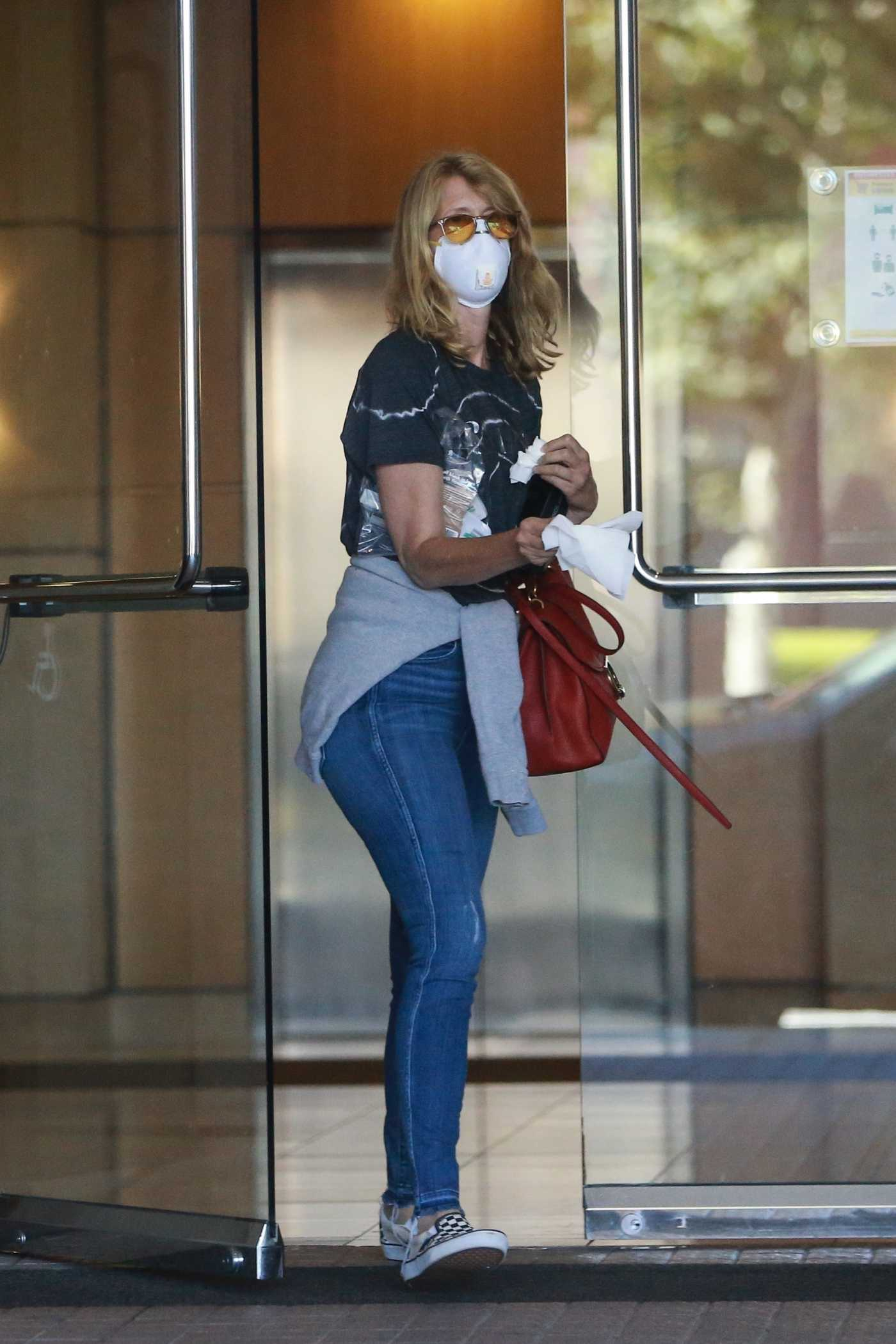 Laura Dern on a Protective Mask Leaves a Dentist Appointment in Santa Monica 07/13/2020