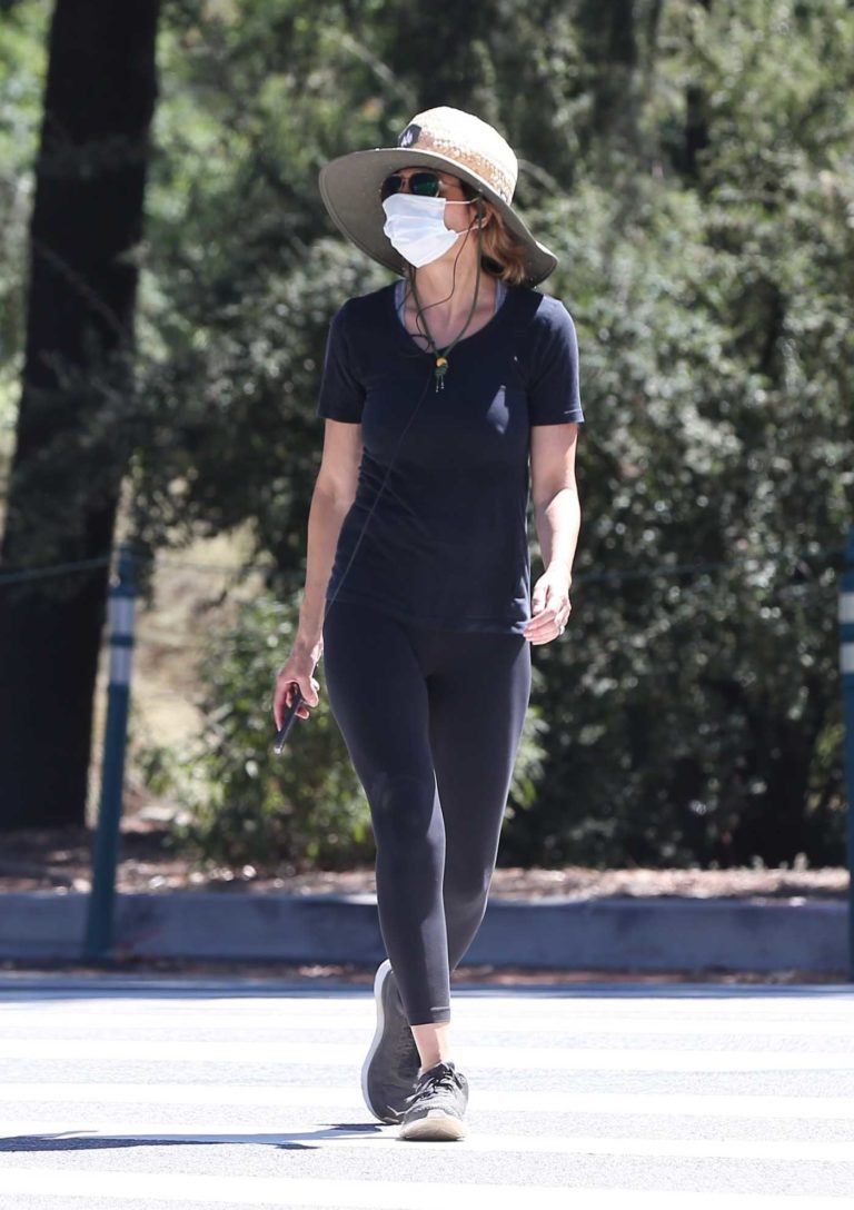 Lisa Rinna in a Protective Mask