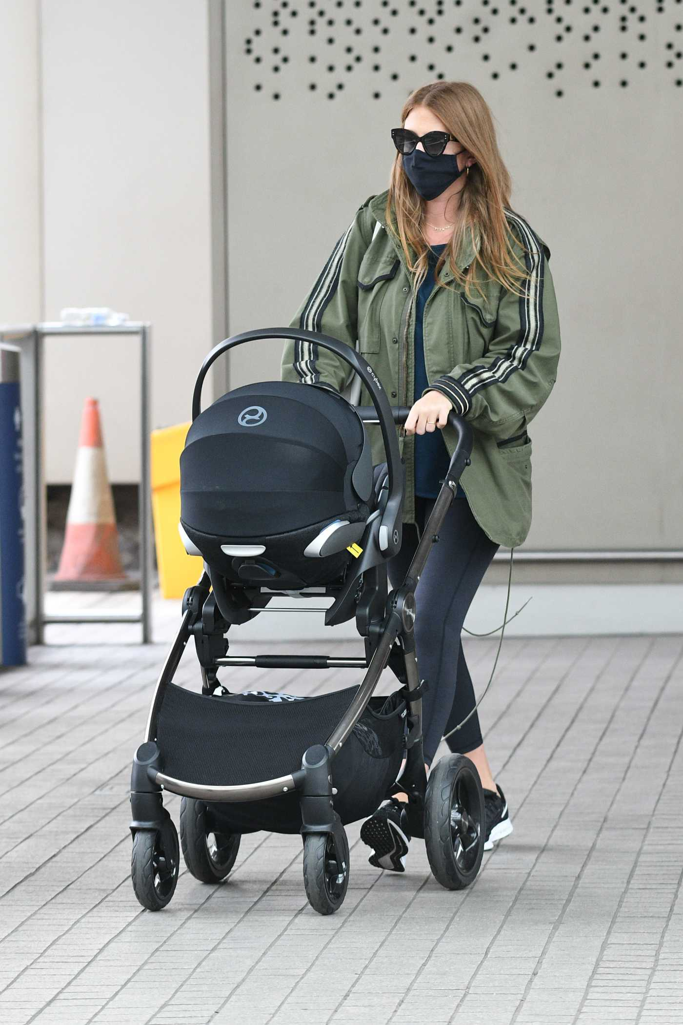Millie Mackintosh in a Black Protective Mask Was Seen Out in London 07/07/2020