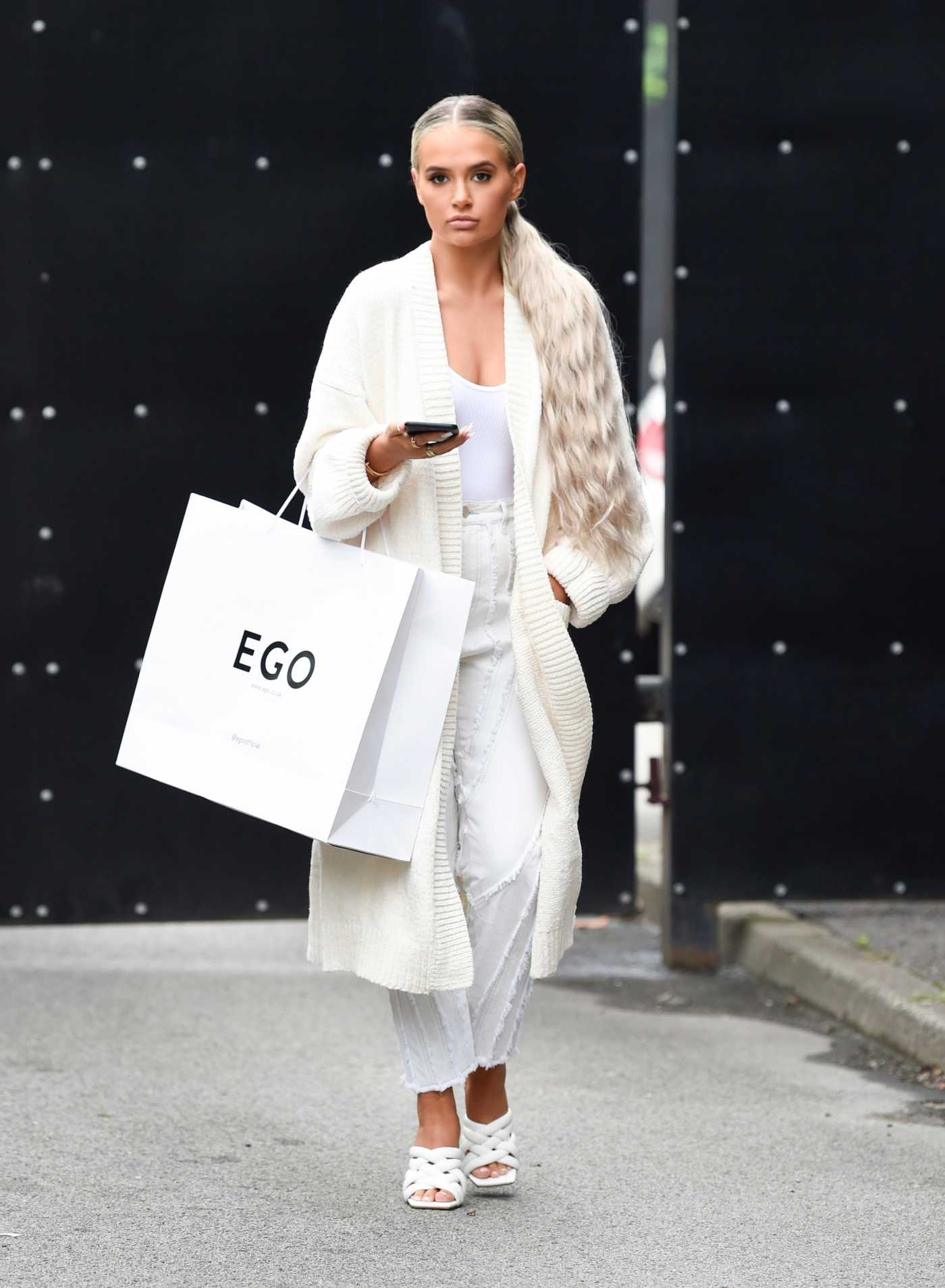 Molly-Mae Hague in a White Cardigan Was Seen Out in Manchester 07/16/2020