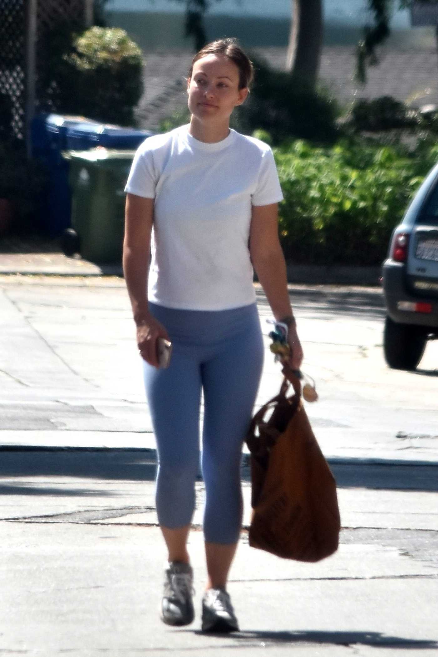 Olivia Wilde in a White Tee Was Seen Out in Silver Lake 06/30/2020