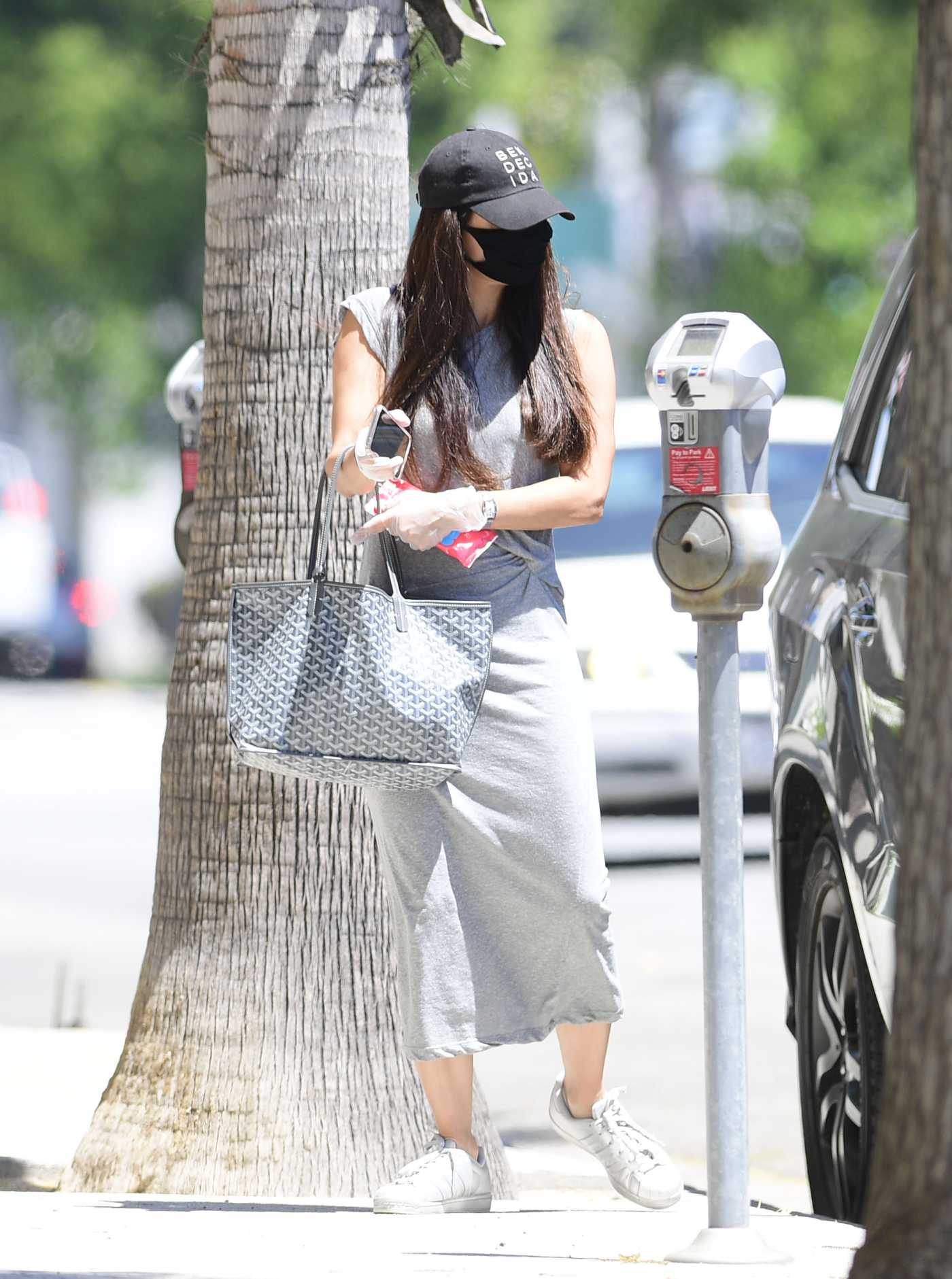 Roselyn Sanchez in a Black Cap Was Seen Out in Los Angeles 07/15/2020