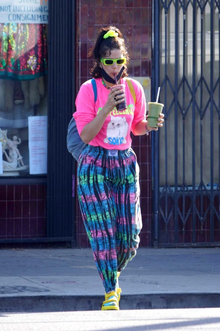 Soko in a Full Colour Pants