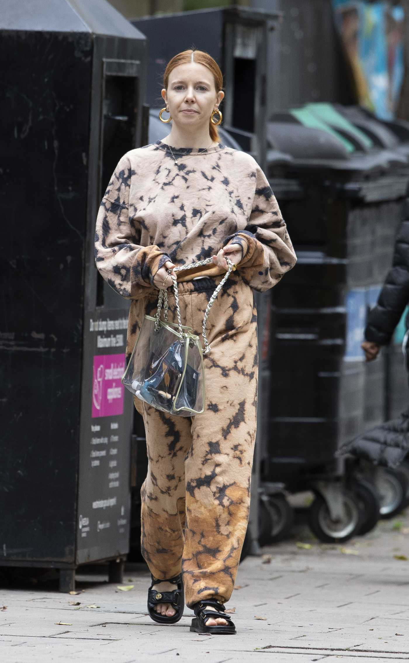 Stacey Dooley in a Matching Tie Dye Tracksuit Was Seen Out in  London 07/09/2020