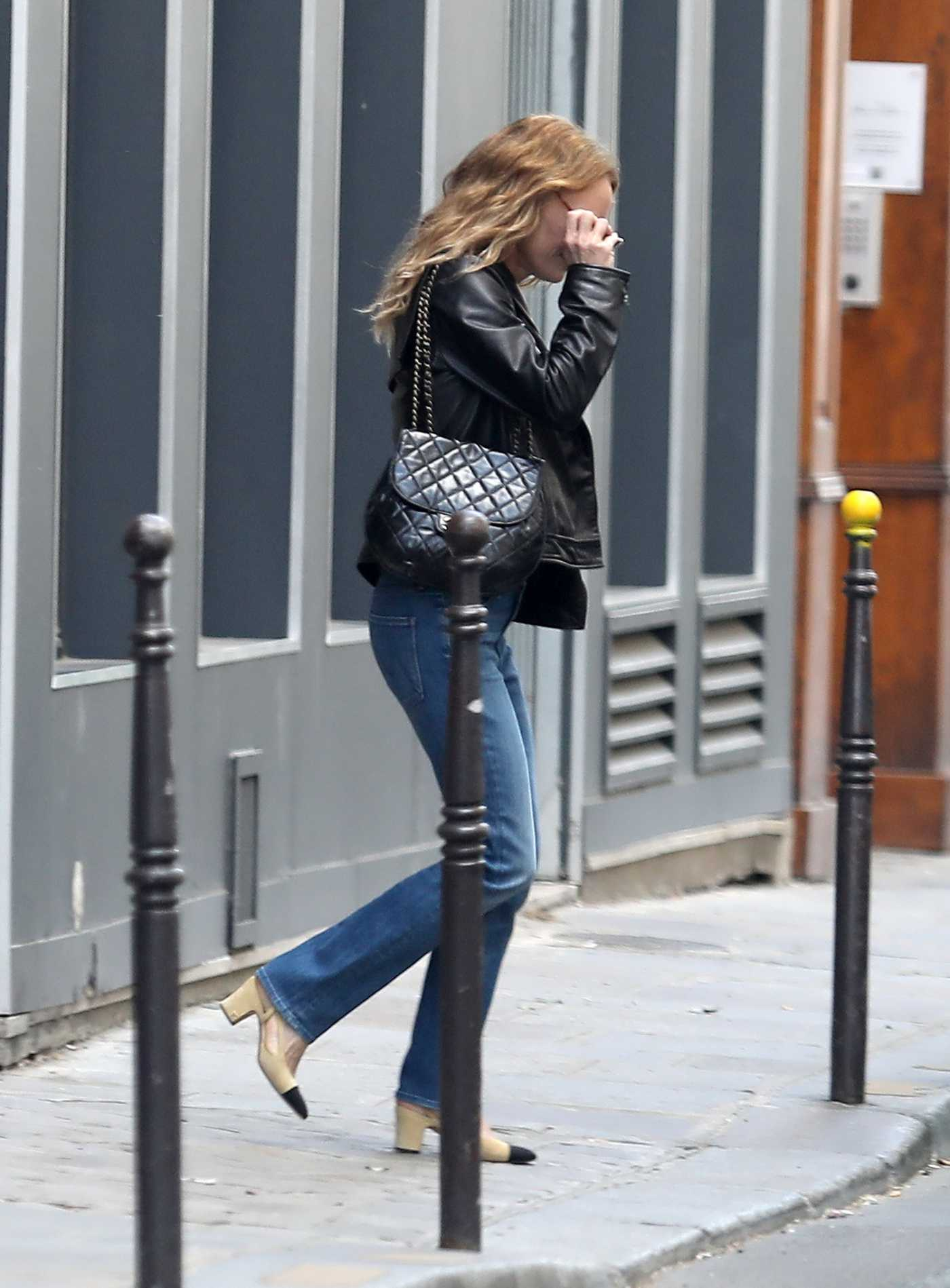 Vanessa Paradis in a Black Jacket Was Seen Out in Paris 07/07/2020