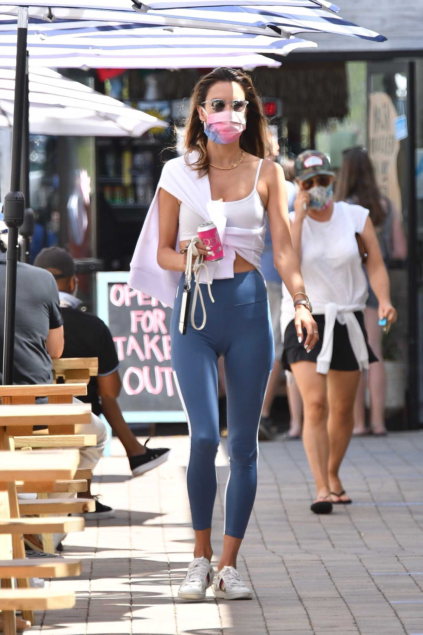 Alessandra Ambrosio in a White Top Was Seen Out in Malibu 08/07/2020