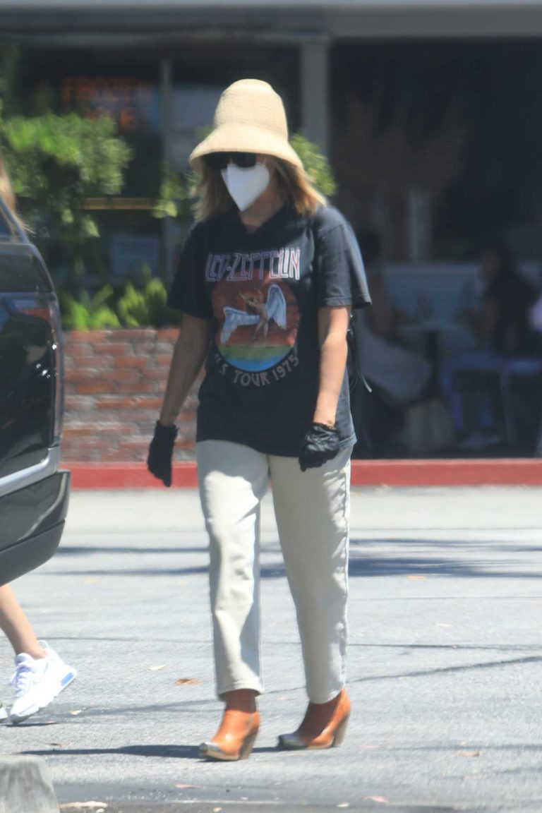 Ashley Tisdale in a Black Led Zeppelin T-Shirt