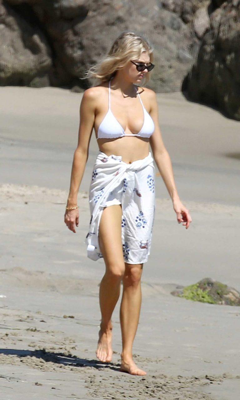 Charlotte Mckinney in a White Bikini