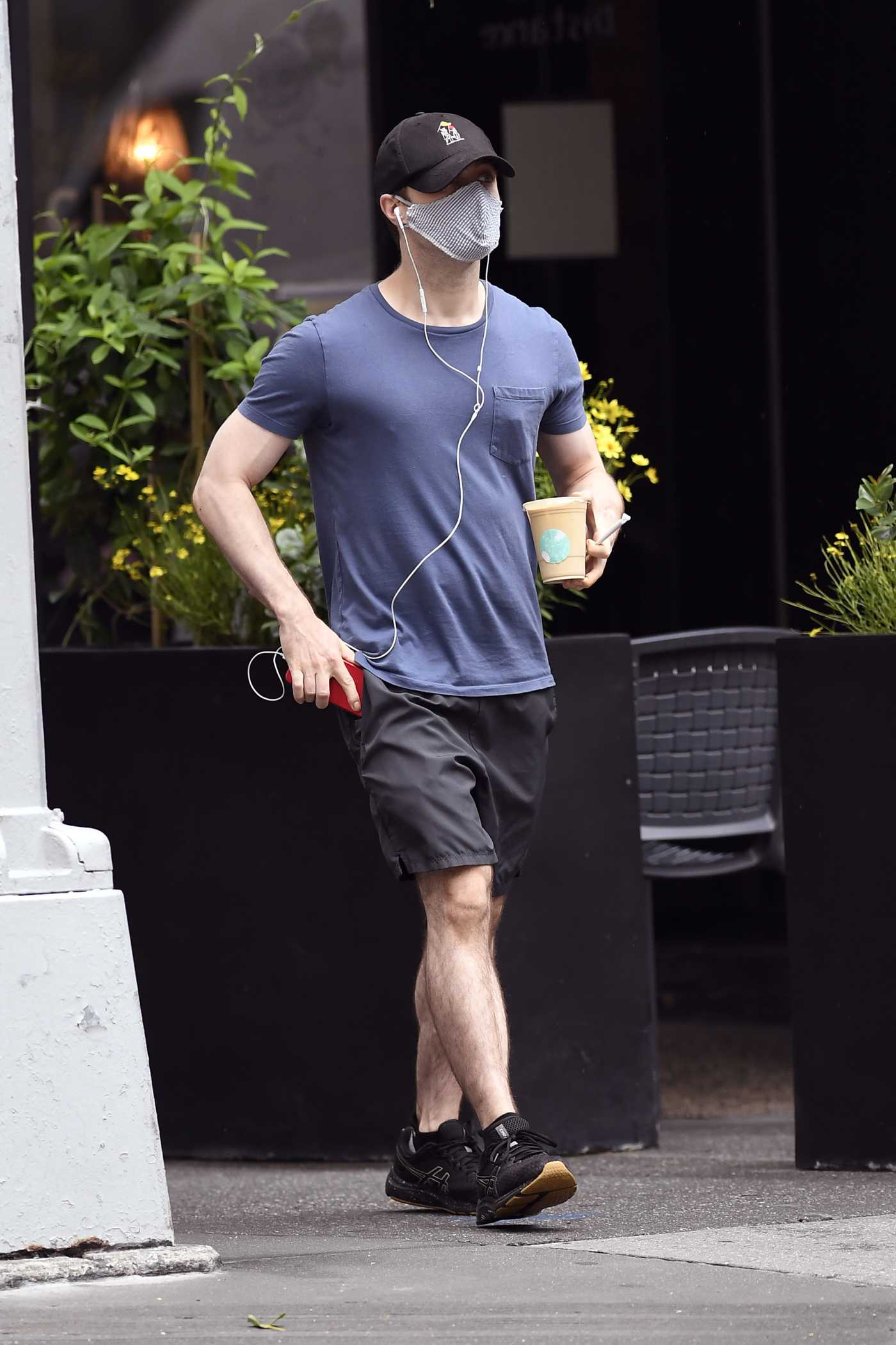 Daniel Radcliffe in a Black Cap Was Seen Out in New York 07/31/2020
