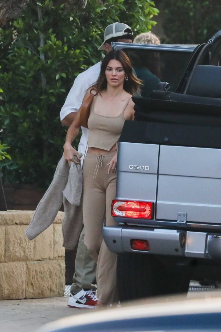 Kendall Jenner in a Beige Top